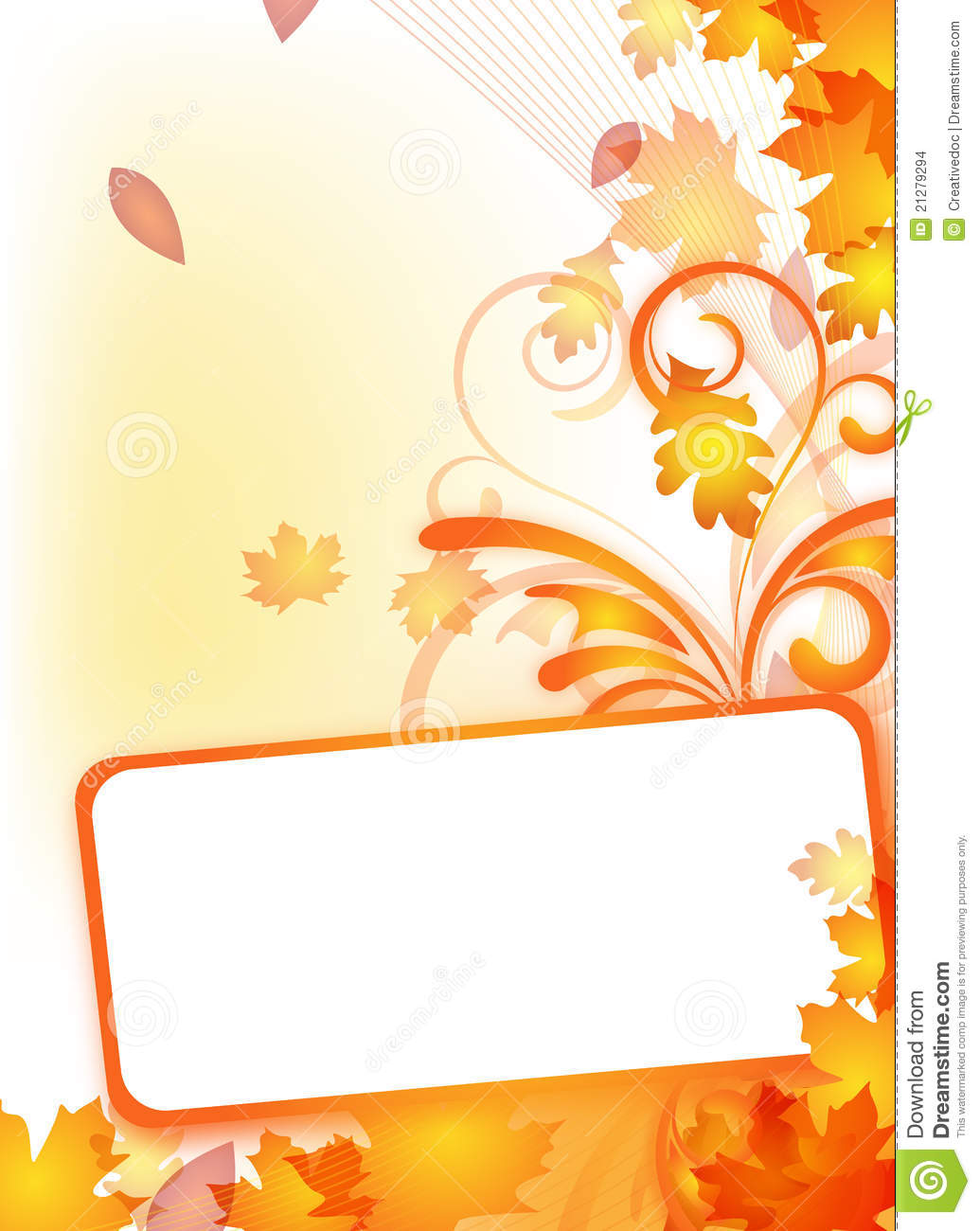 Autumn Flyer With Text Frame Stock Vector - Image: 21279294