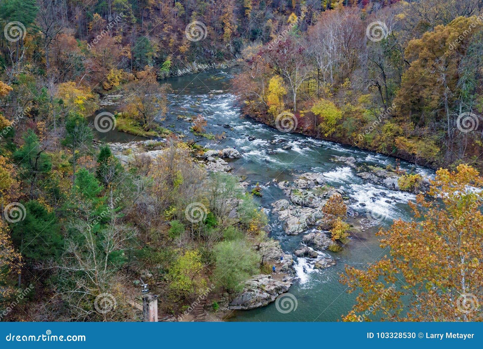 Autumn Foliage on the Roanoke River