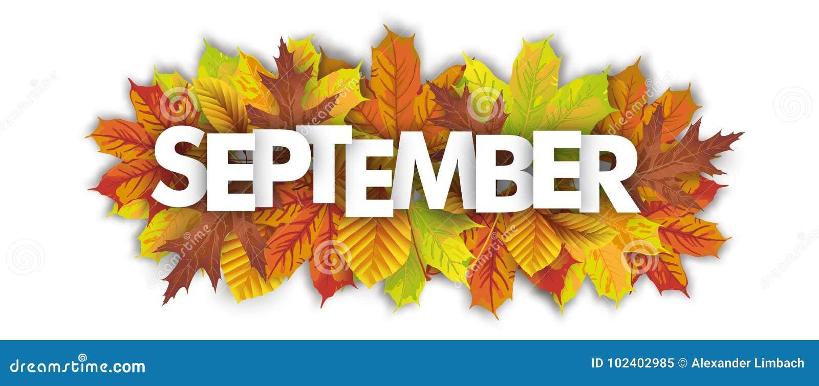 Autumn Foliage September Header White ...