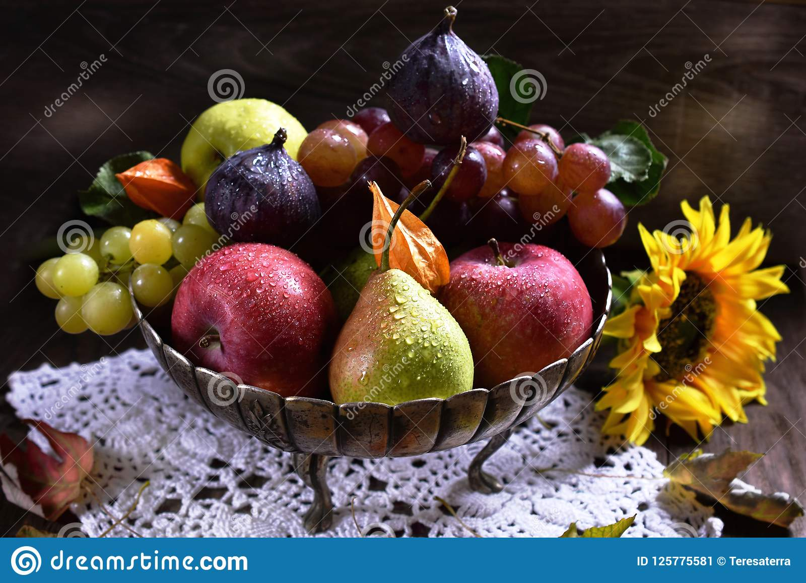 Autumn fruits still life