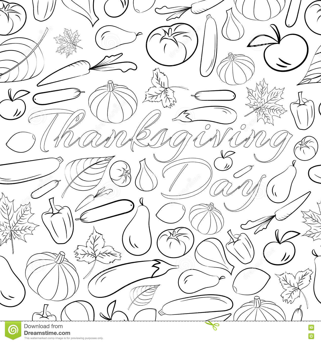 Autumn Graphic Seamless Pattern