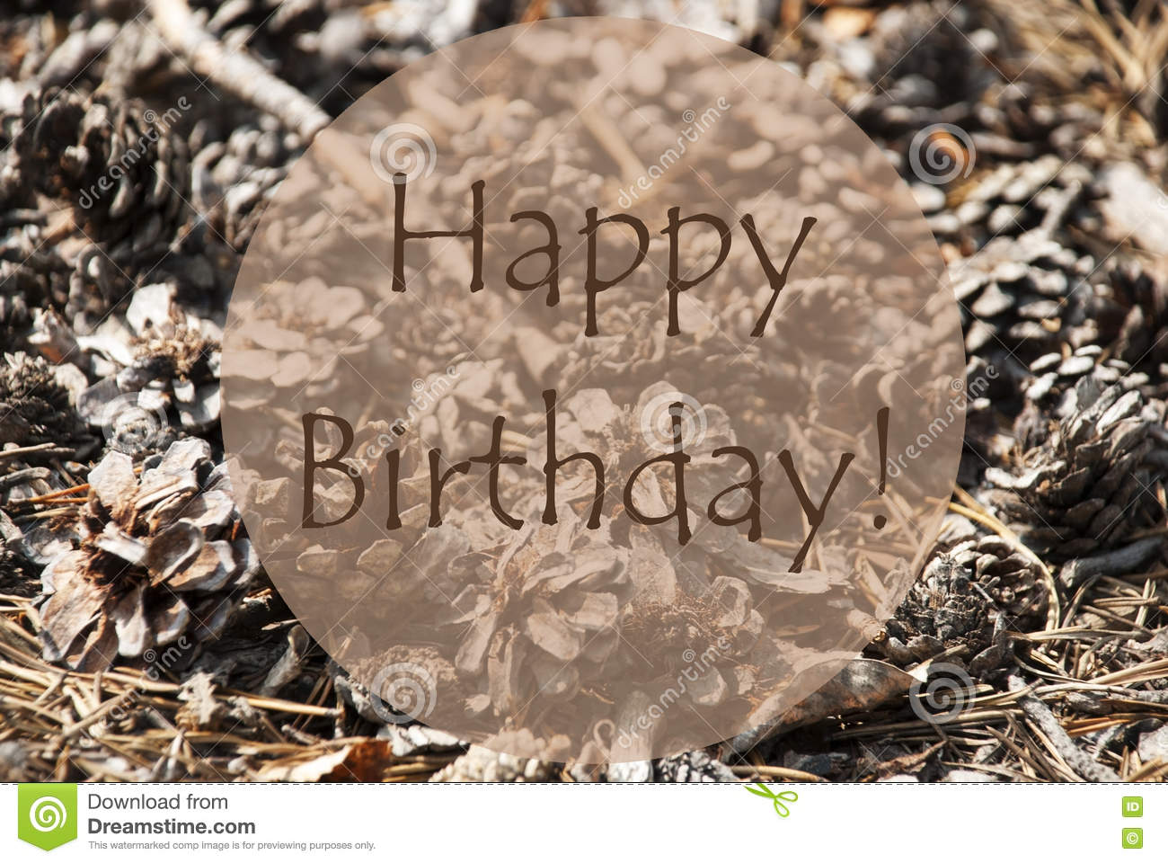 Autumn Greeting Card With Text Happy Birthday Stock Photo ...