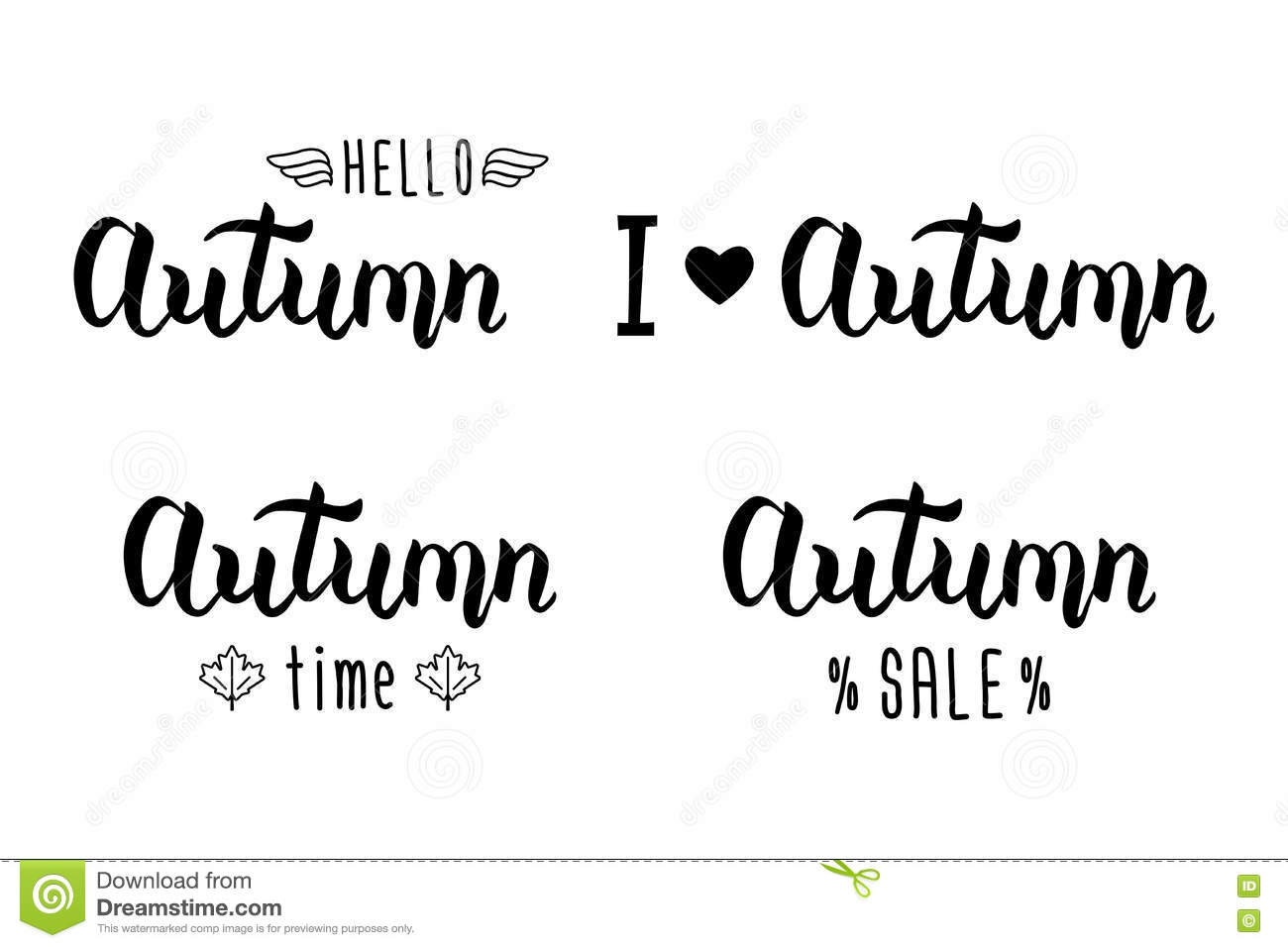 Autumn handlettering set autumn logos and emblems for invitation download autumn handlettering set autumn logos and emblems for invitation greeting card t m4hsunfo