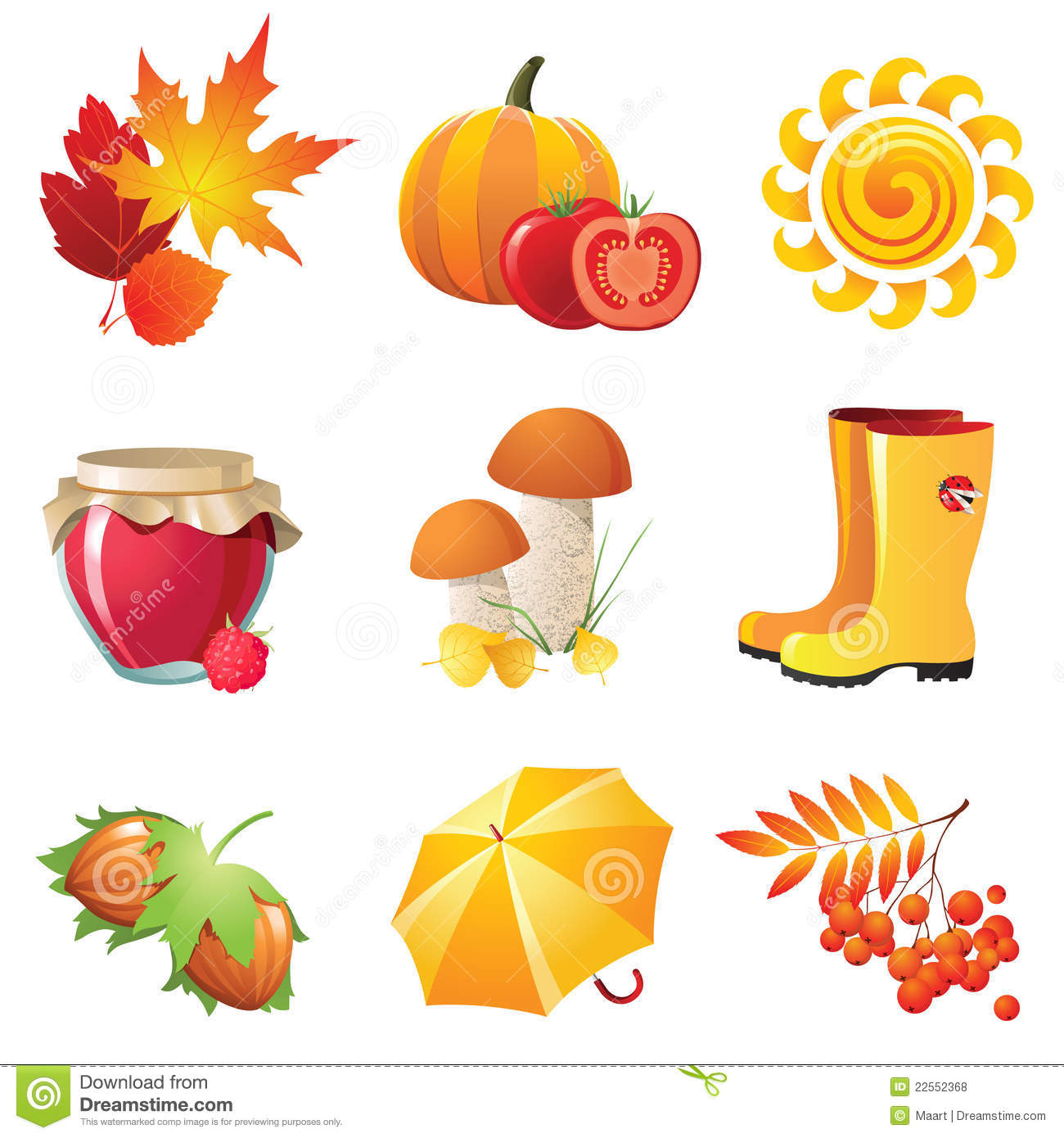 Autumn icons royalty free stock photos image 22552368
