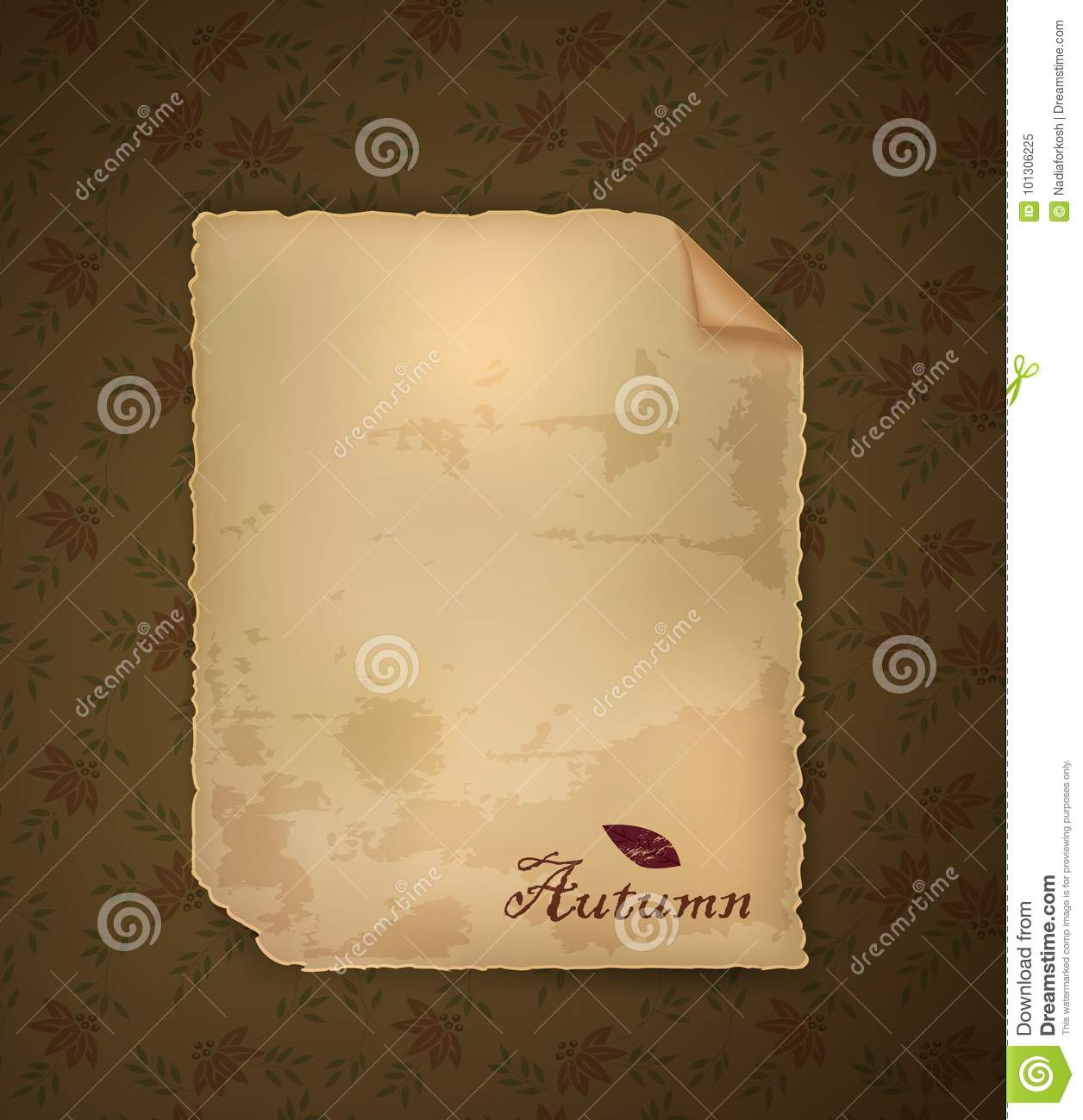 Autumn invitation empty old paper letter on the autumn background download autumn invitation empty old paper letter on the autumn background vector stock vector stopboris Images
