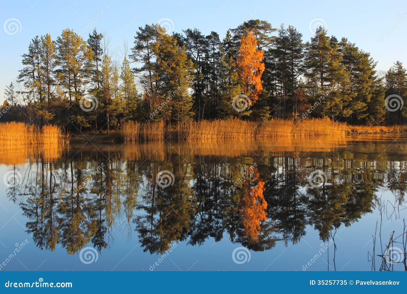 Autumn Lake Ladoga, Karelia, Russia Stock Image - Image of ...