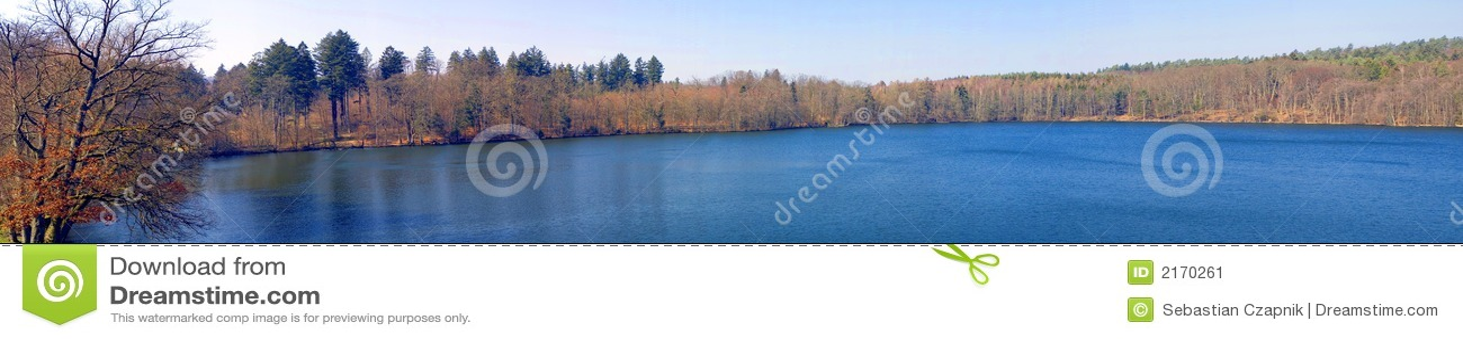 Autumn lake panorama