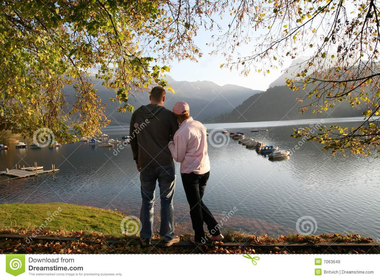 At the autumn lake together 2