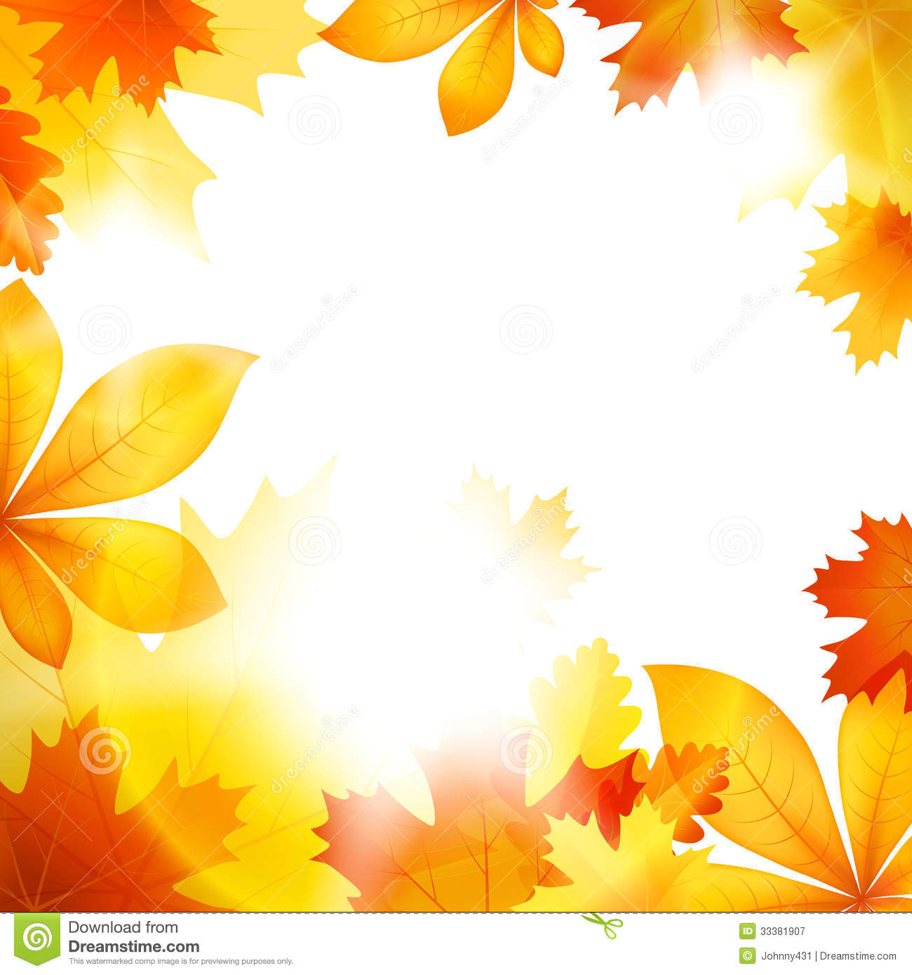 Fall Leaves Background Royalty Free Clipart Image LONG