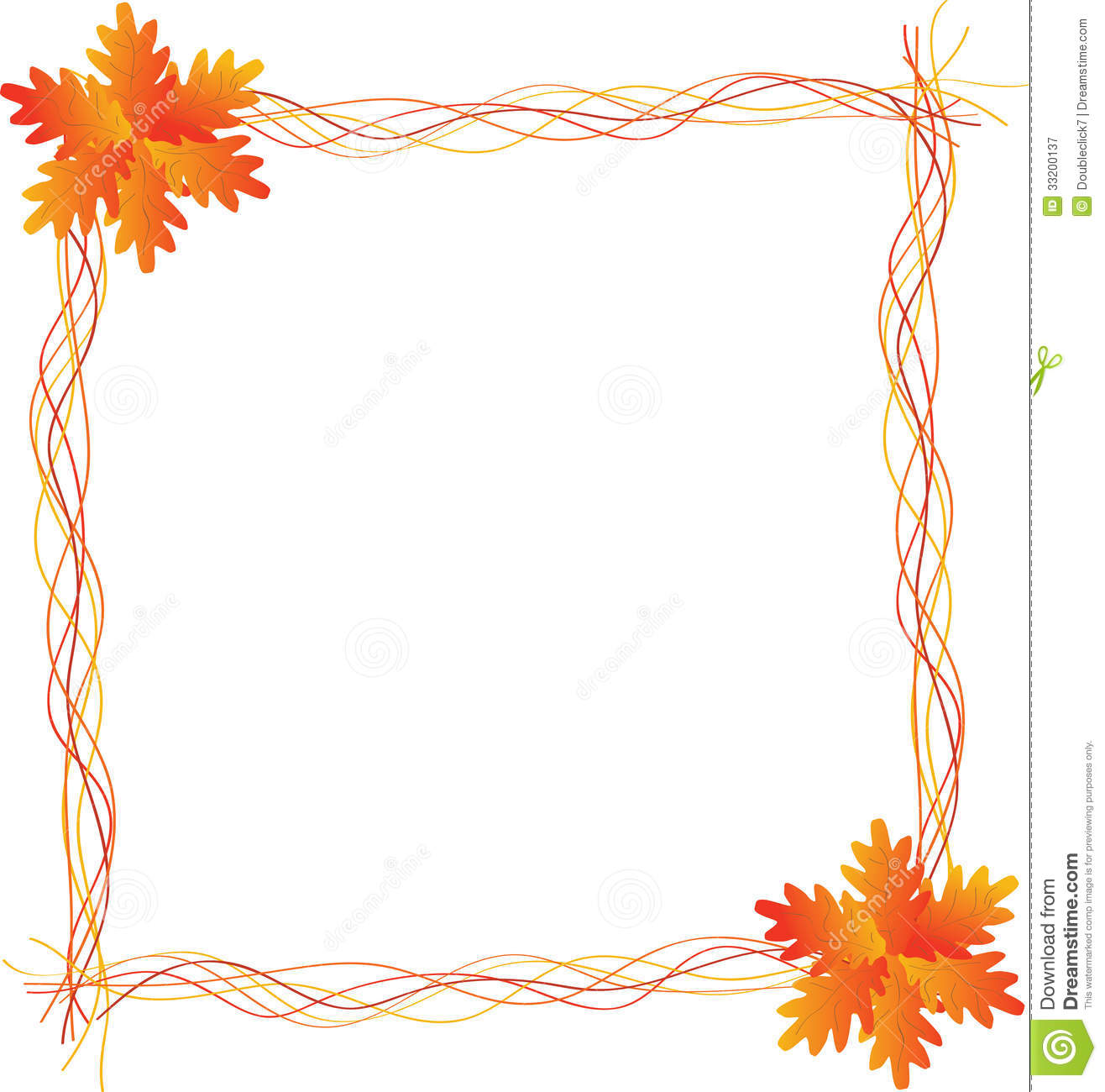 Autumn Leaf Frame Royalty Free Stock Photography