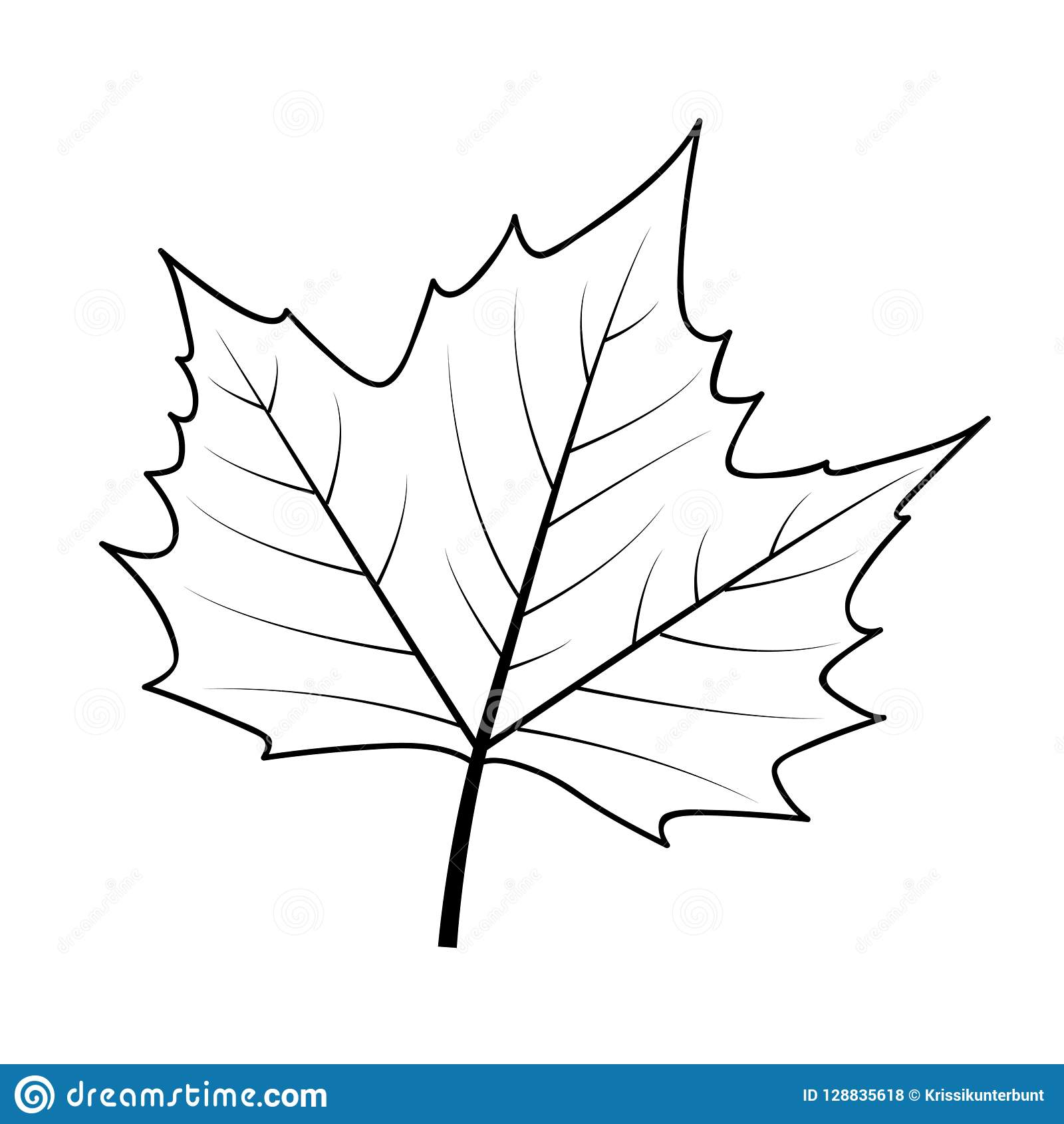 Autumn Leaf Icon Outline On White Background Stock Vector ...