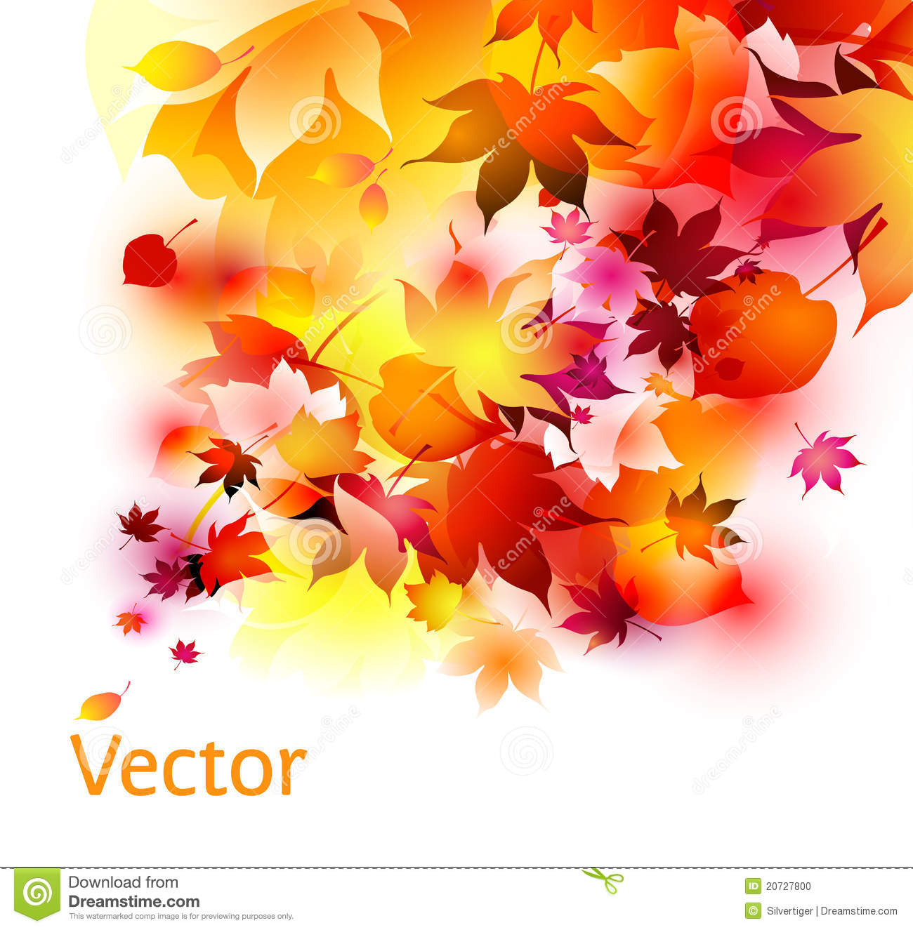 Autumn Leaves Abstract Background Stock Vector