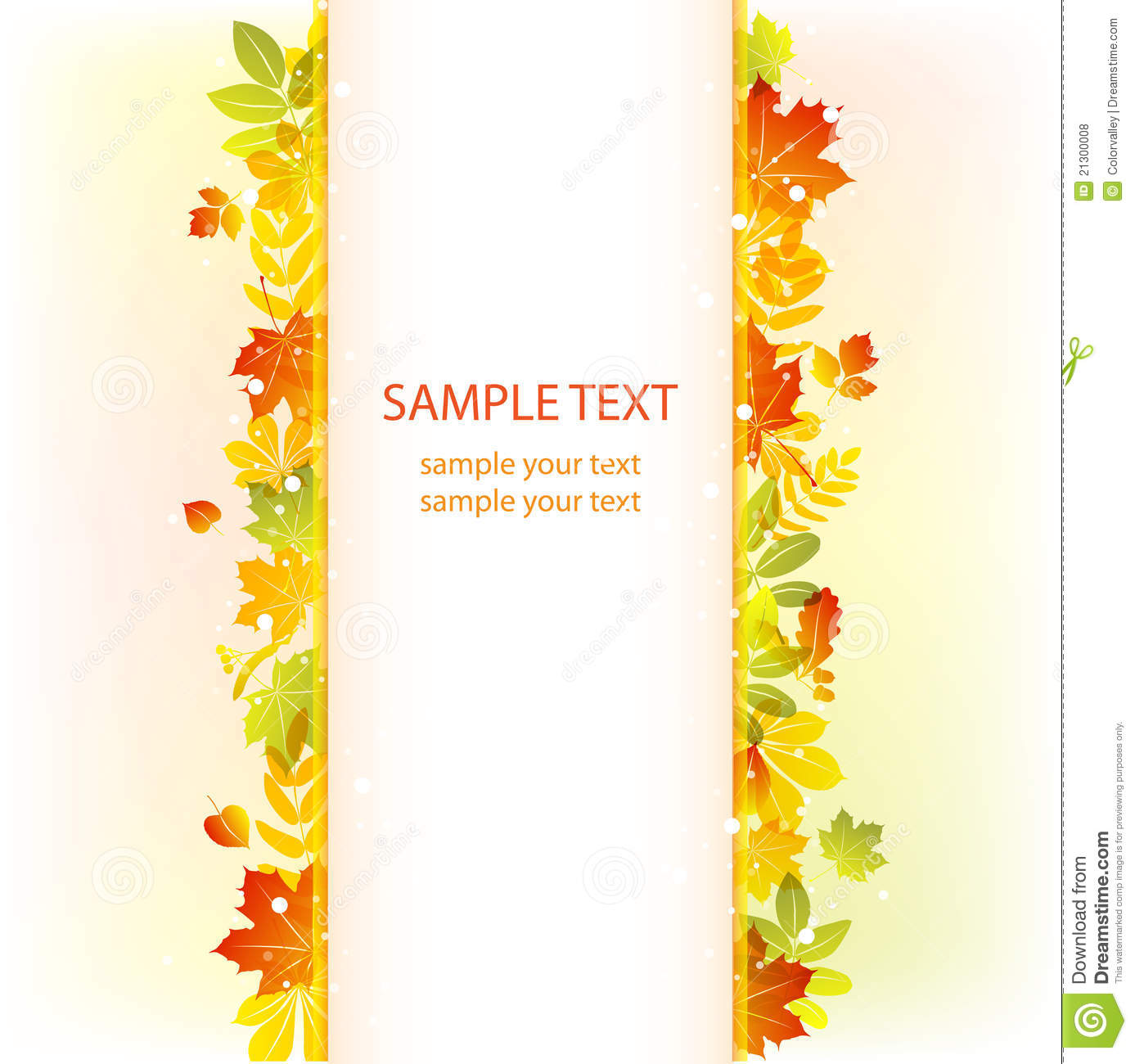 Autumn Leaves Background Vector Banner Royalty Free Stock