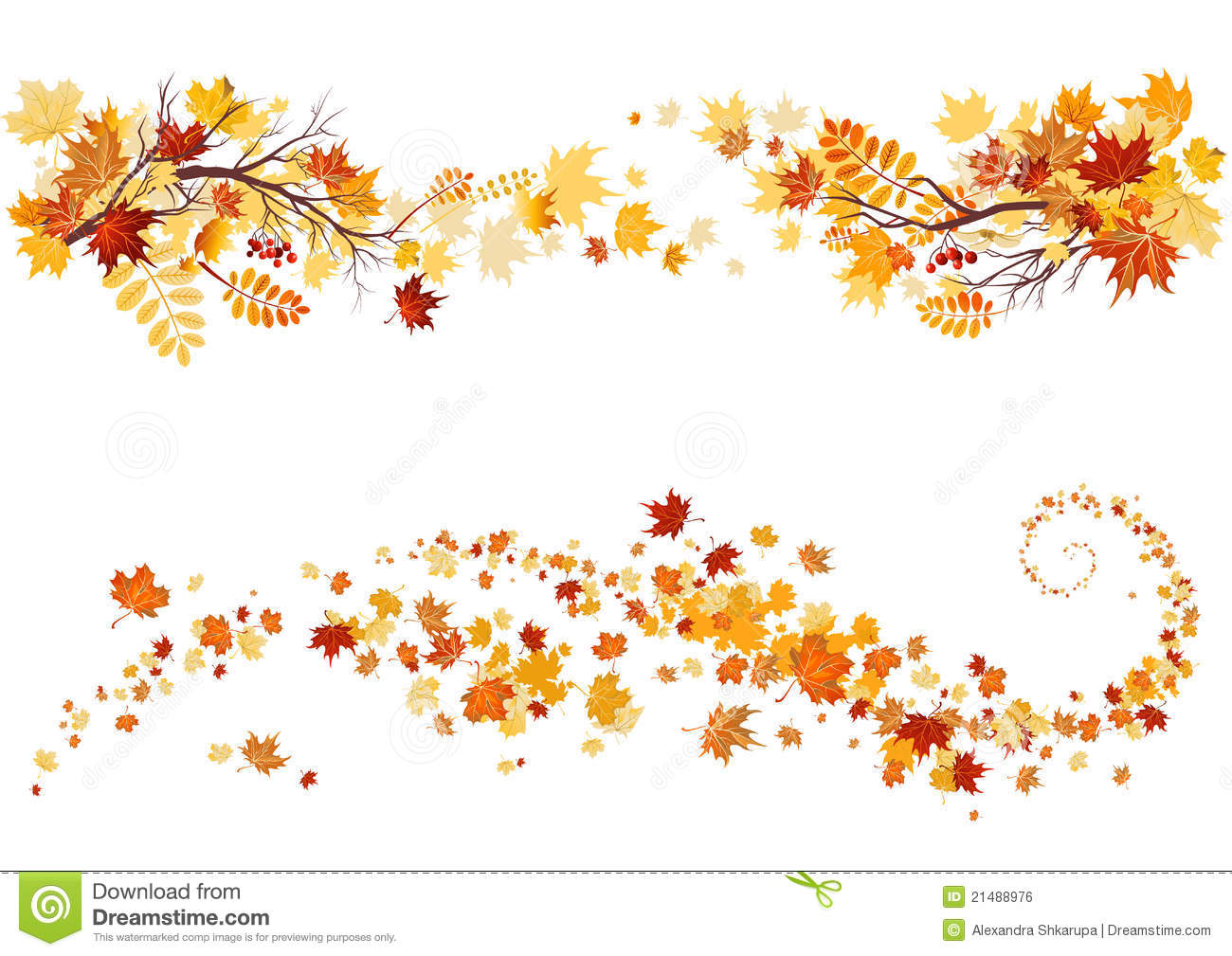 Autumn leaves border Royalty Autumn Leaves Clipart