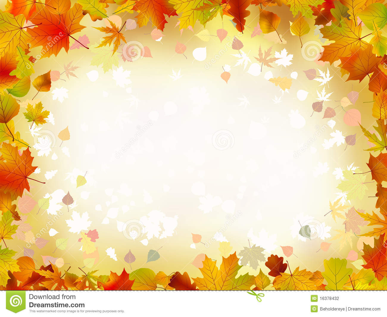 Autumn Leaves Border For Your Text. Stock Photography - Image ...
