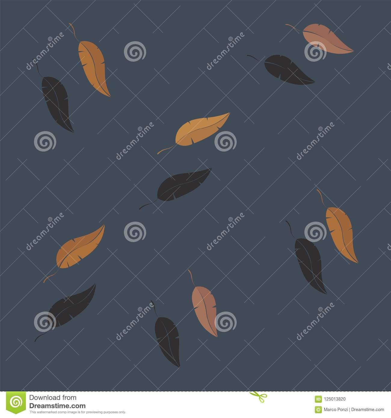Autumn Leaves Falling Vector