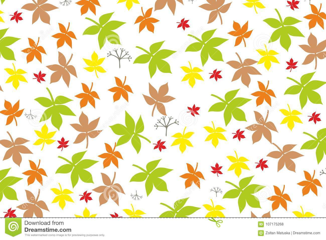autumn leaves foliage nature vector background yellow orange green