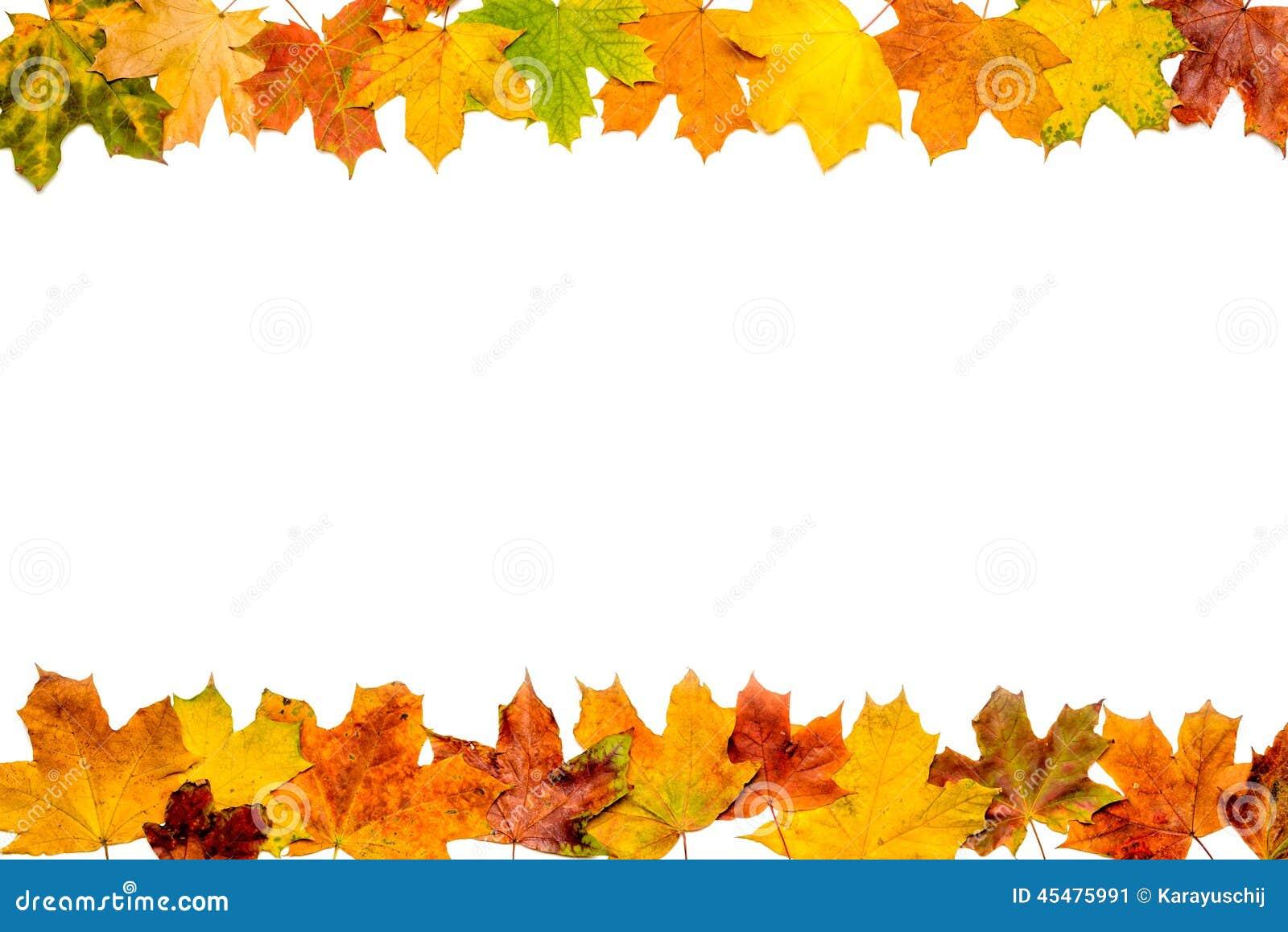 autumn leaves frame stockfoto bild 45475991. Black Bedroom Furniture Sets. Home Design Ideas