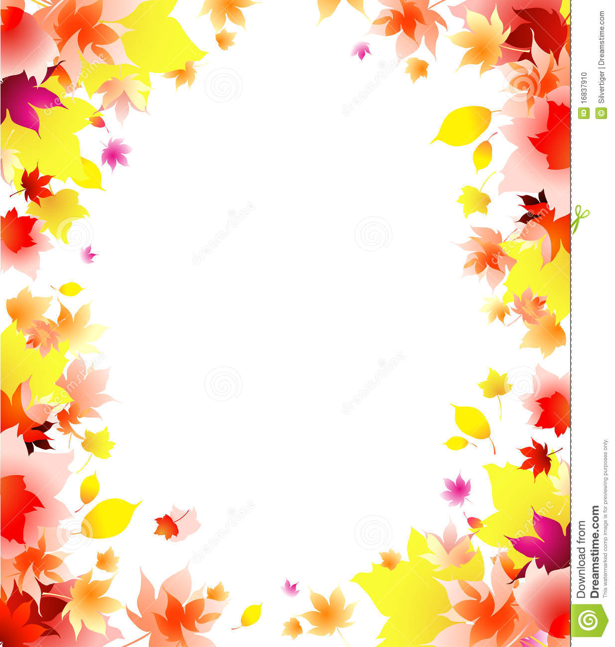 autumn leaves frame background stock photo image 16837910 Easy Snowflake Clip Art free pictures of snowflakes clipart