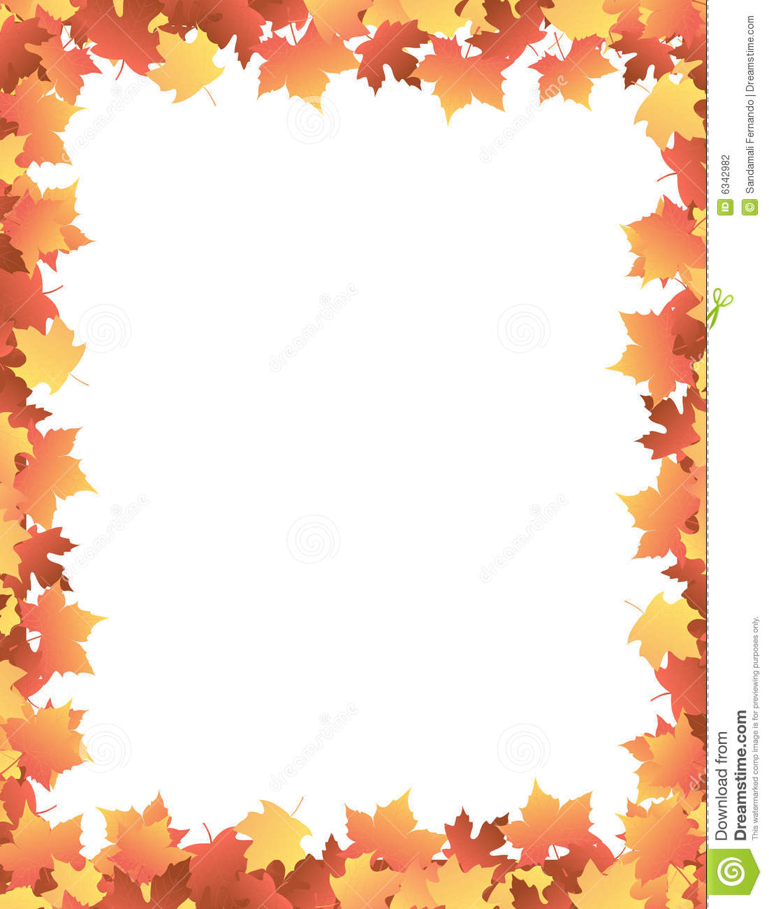 Colorful autumn leaves / Maple leaves falling background / border ...