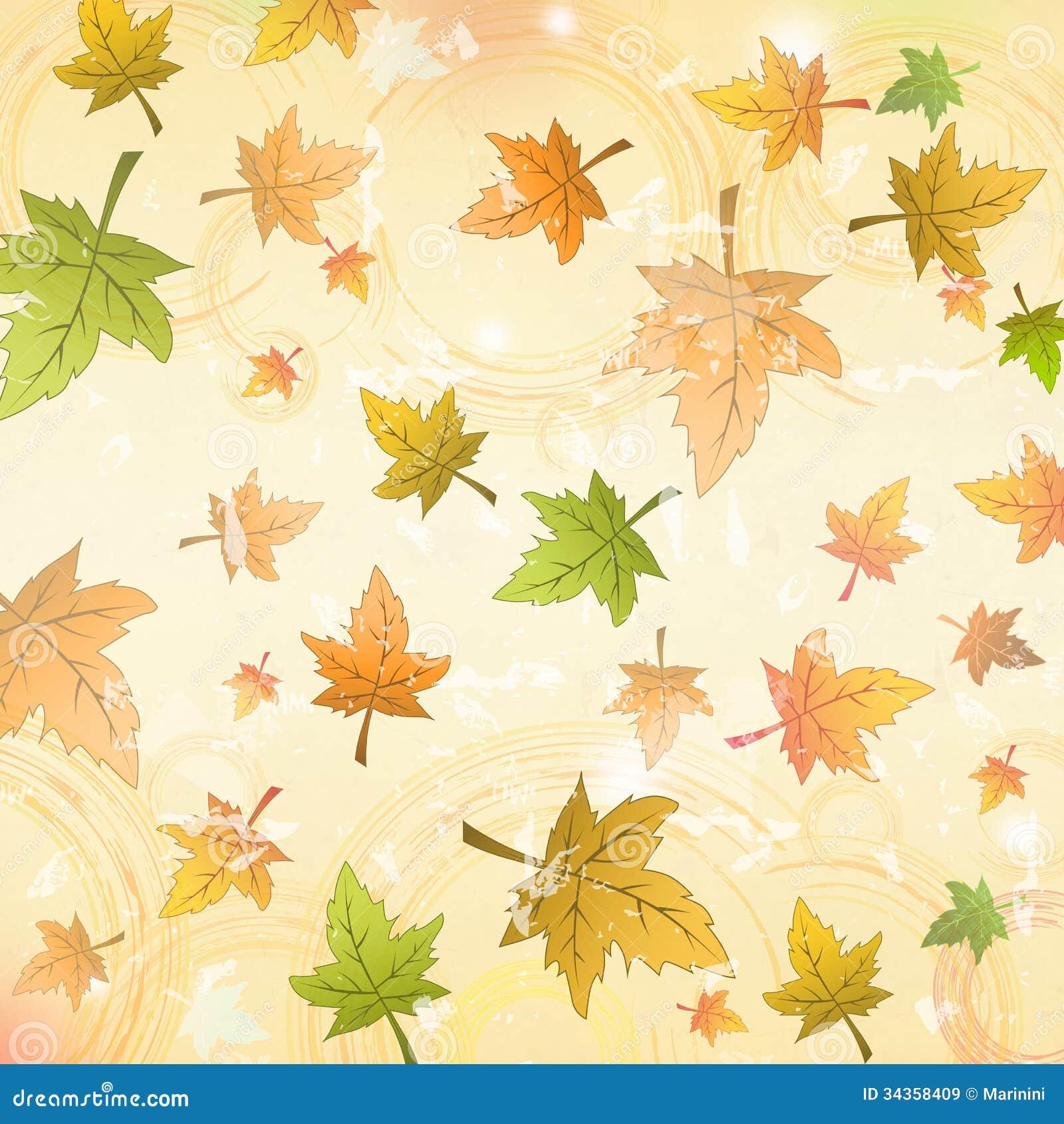 Fall Leaves Wallpaper Vector