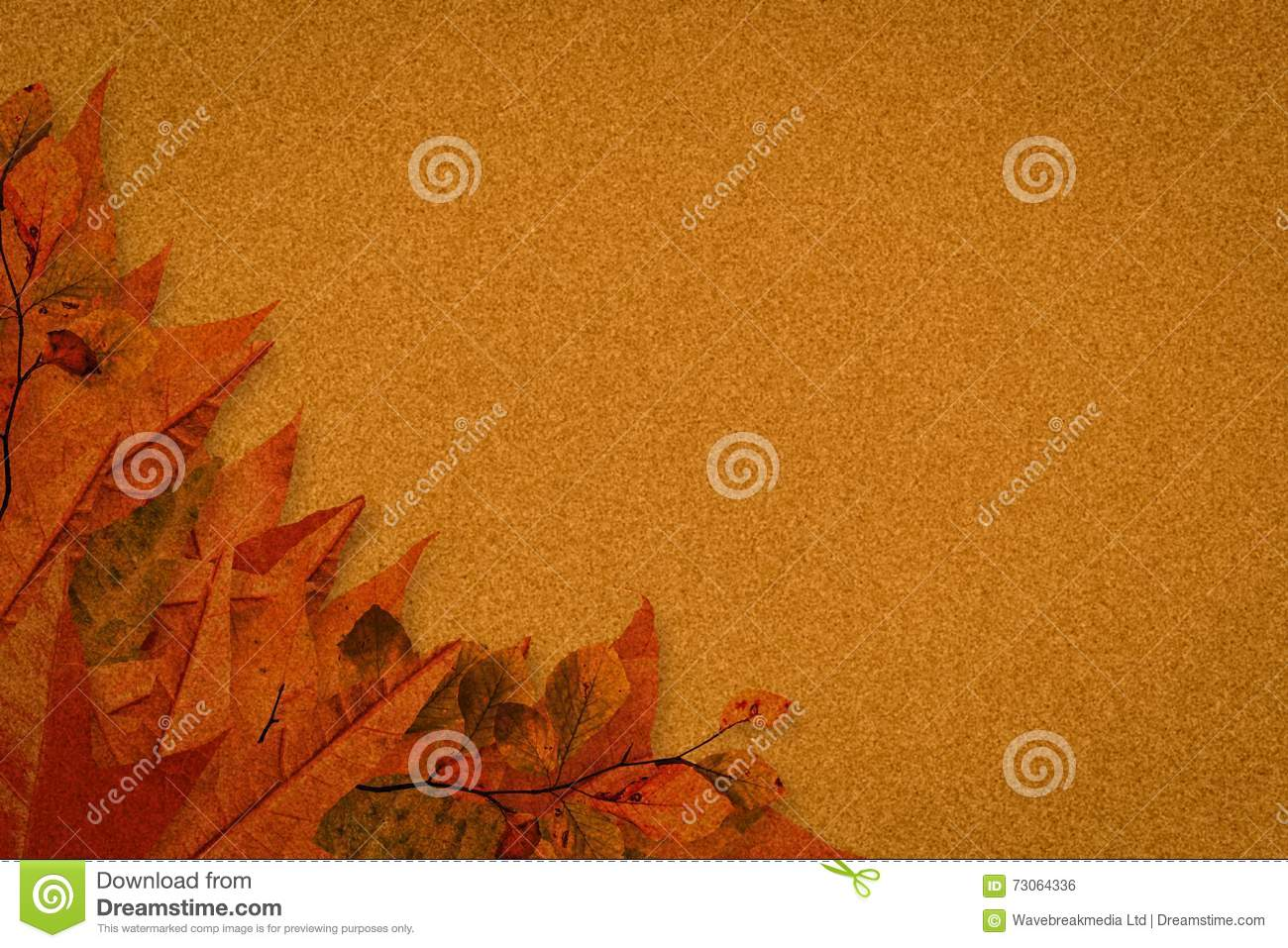 autumn leaves pattern stock illustration illustration of digitally