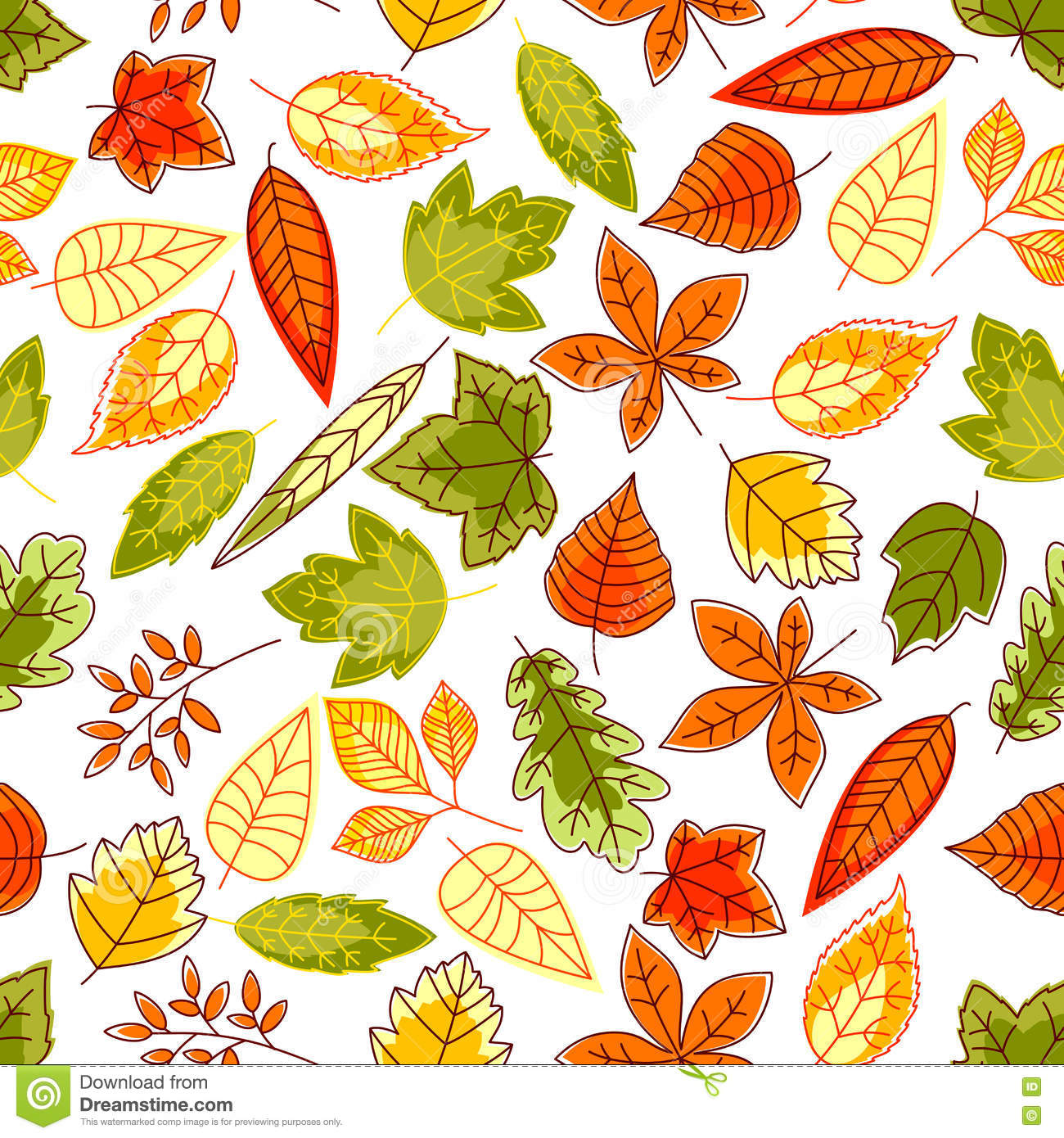 Autumn Leaves Pattern Seamless Background Stock Vector ...