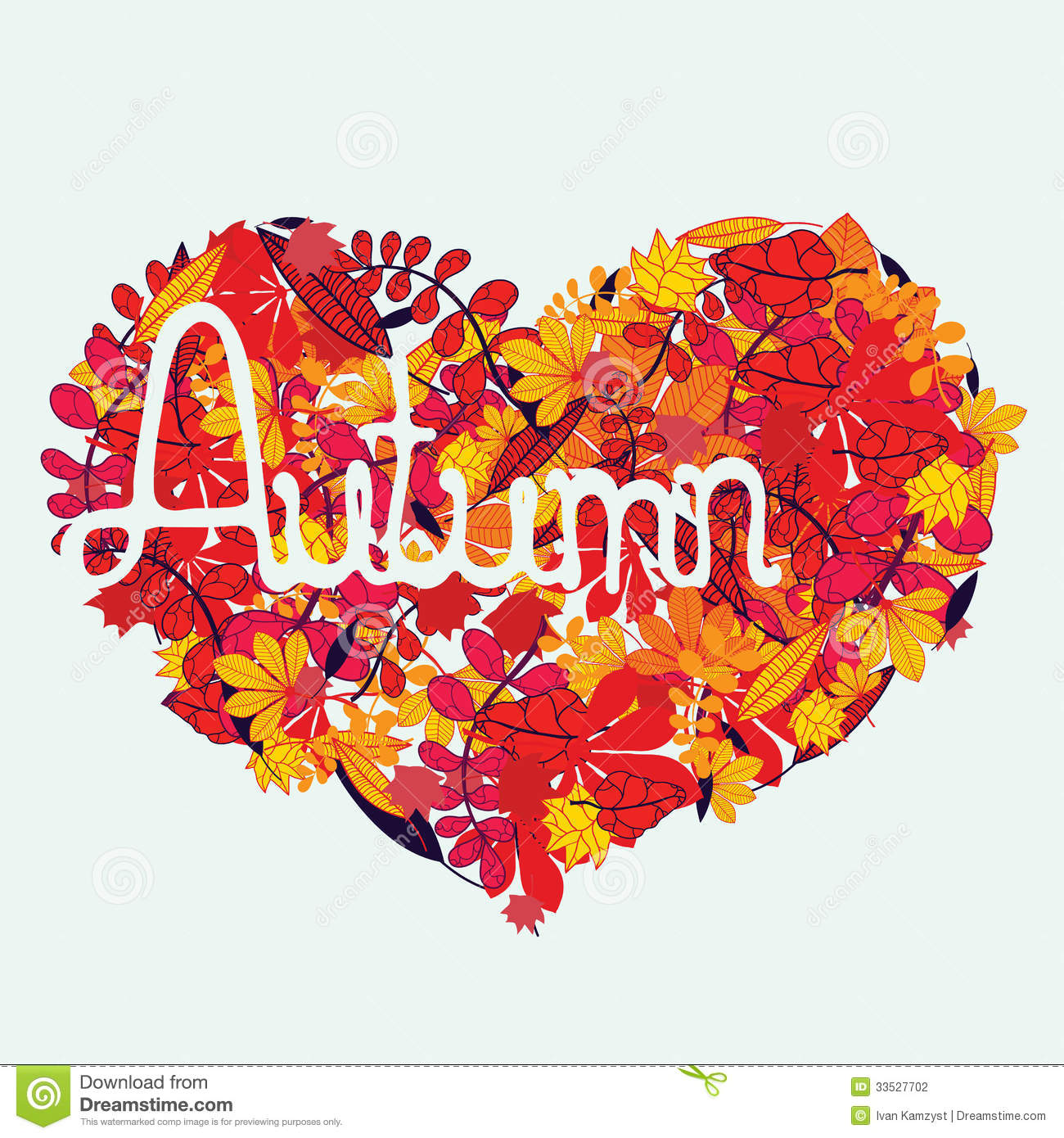 Autumn Love With Lettering Stock Vector Image Of Design
