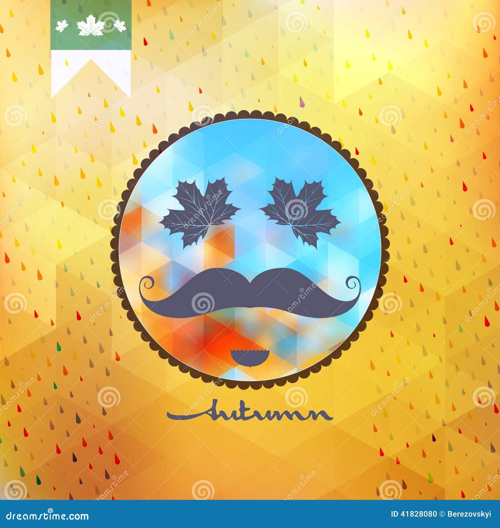 Poster design eps - Autumn Design Mostachos Poster