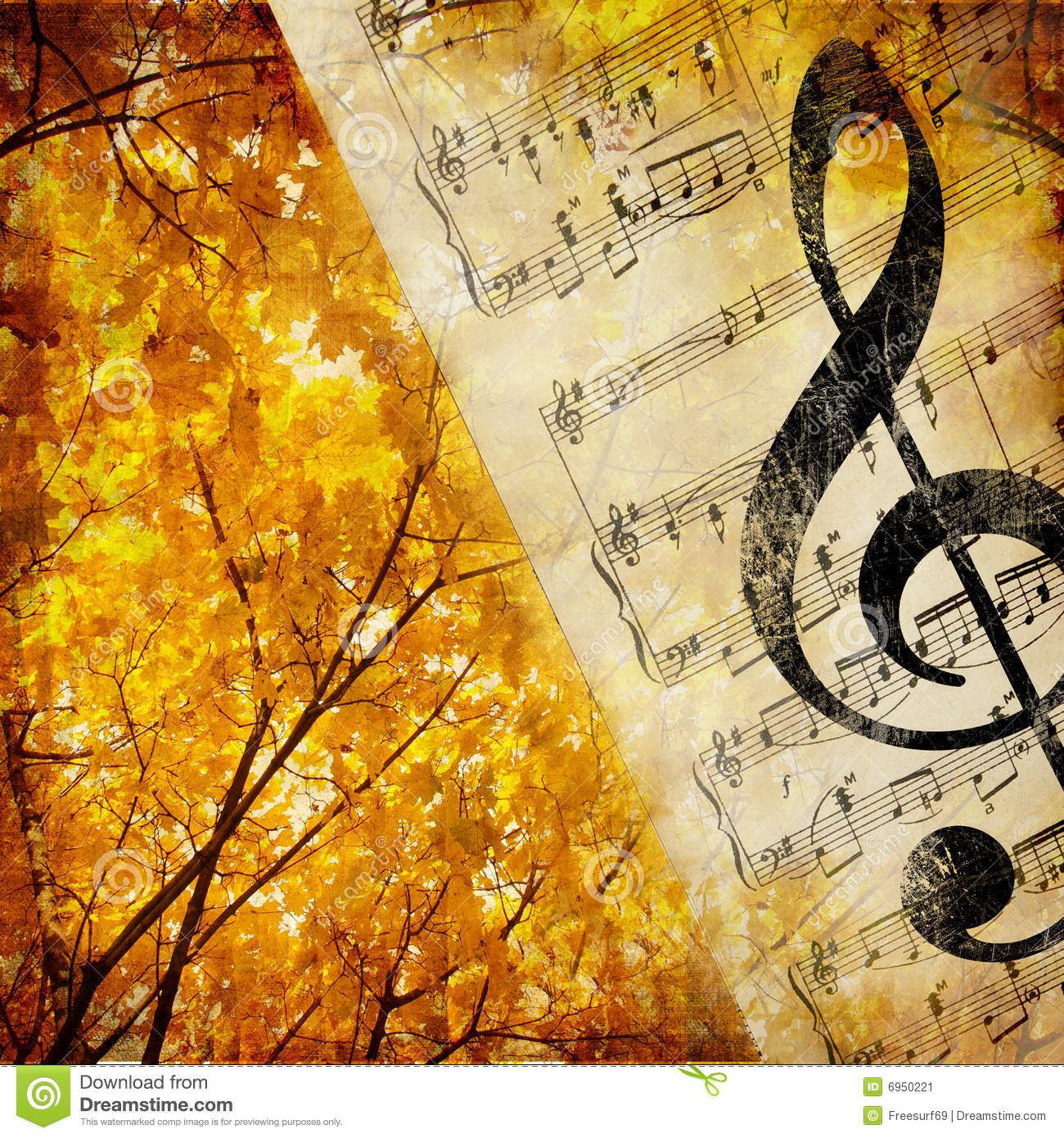 Autumn Music Stock Image - Image: 6950221