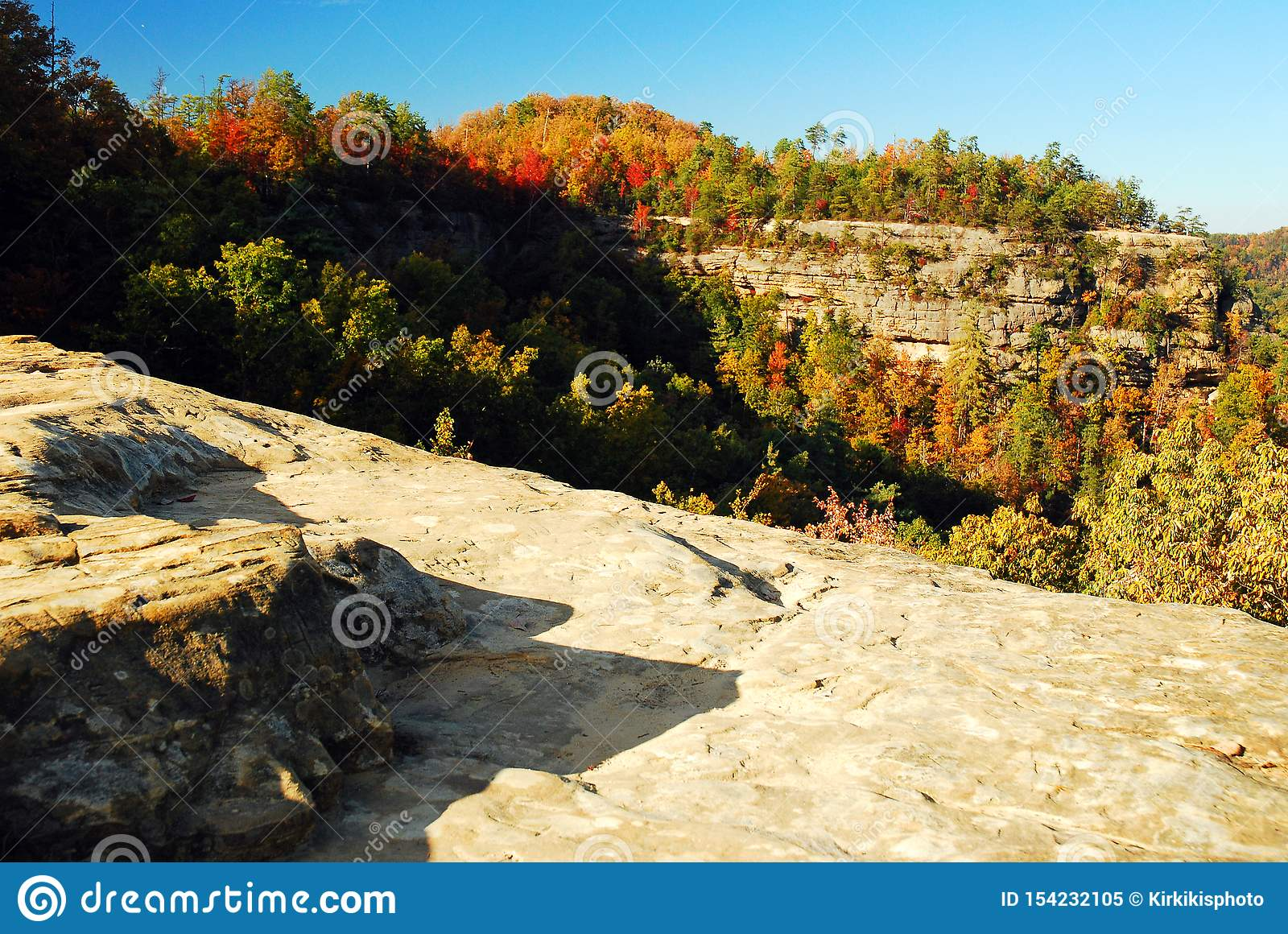 Autumn in Natural Bridges State Park, Kentucky