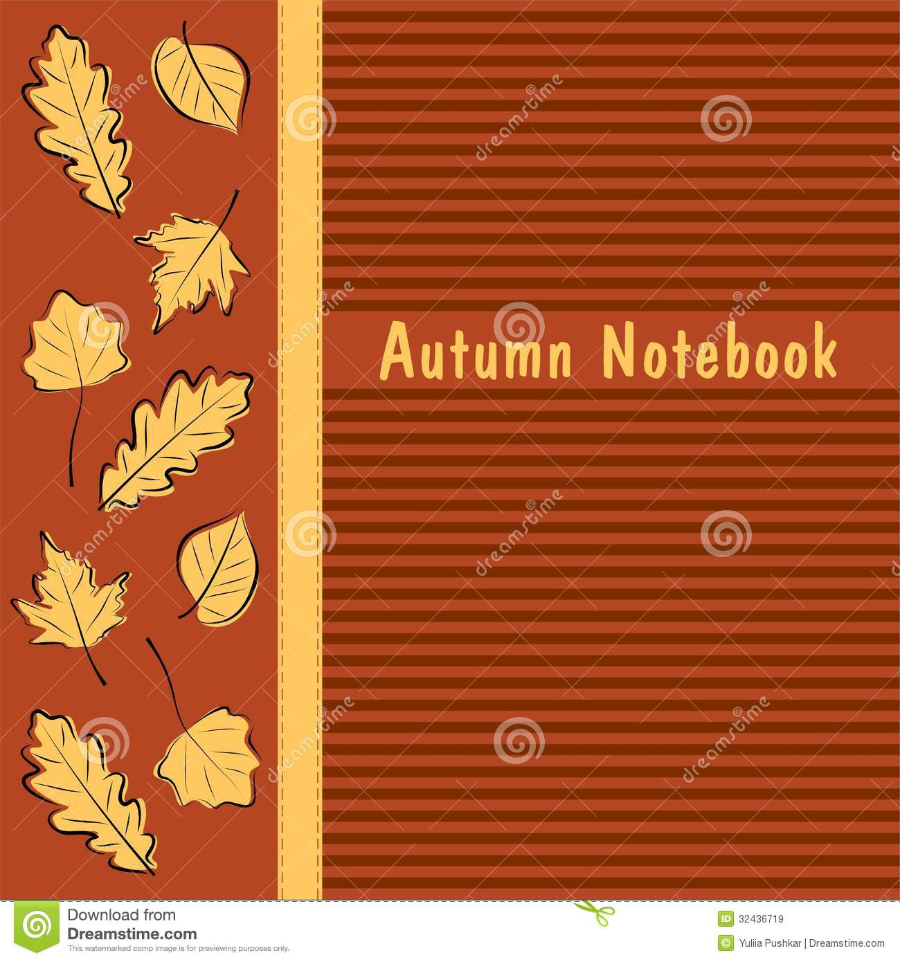 Notebook Cover Background : Autumn notebook cover royalty free stock images image