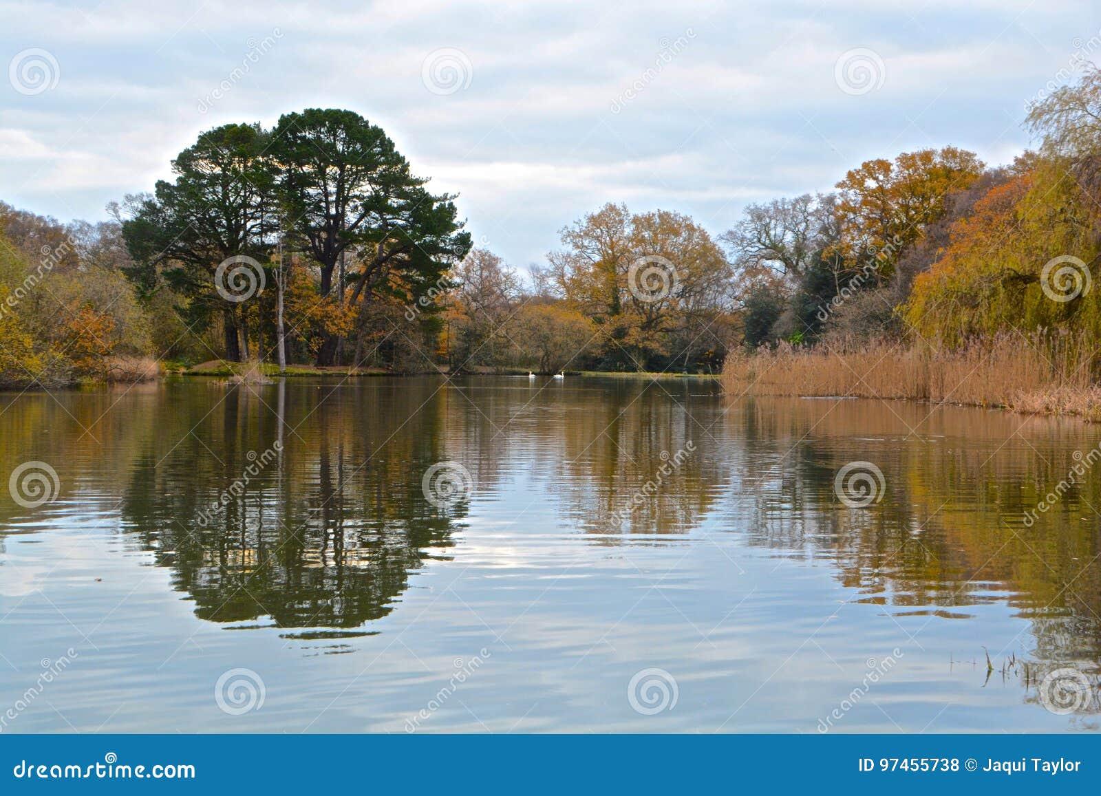 Autumn at the Ornamental Pond, Southampton