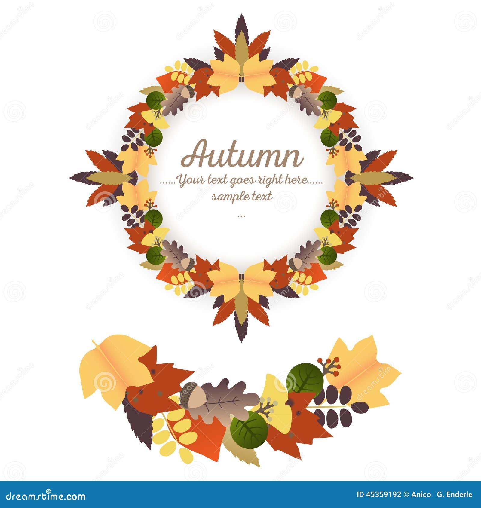 Autumn Ornaments - guirlande et guirlande