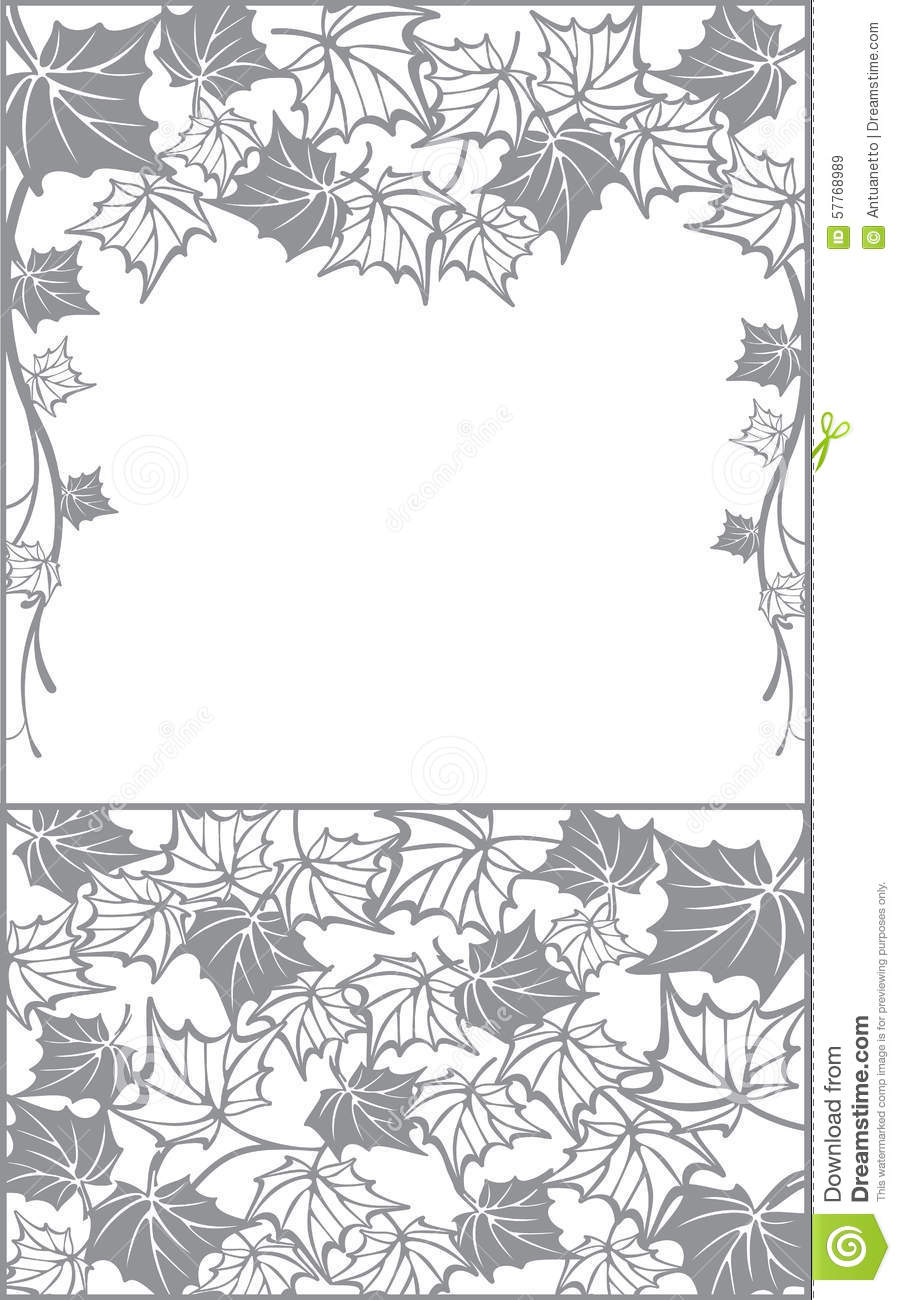 Pattern with maple leaves fall vector design background for cutting