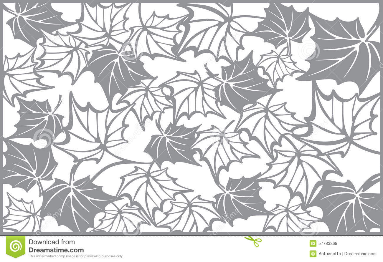 Autumn Pattern, With Maple Leaves. Template For Stock Vector ...