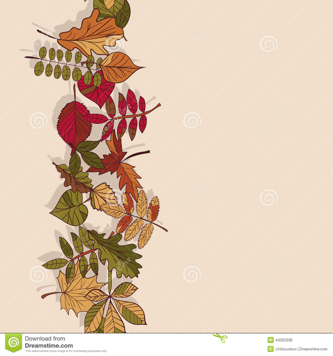 Autumn Pattern Of Leaves Red Yellow And