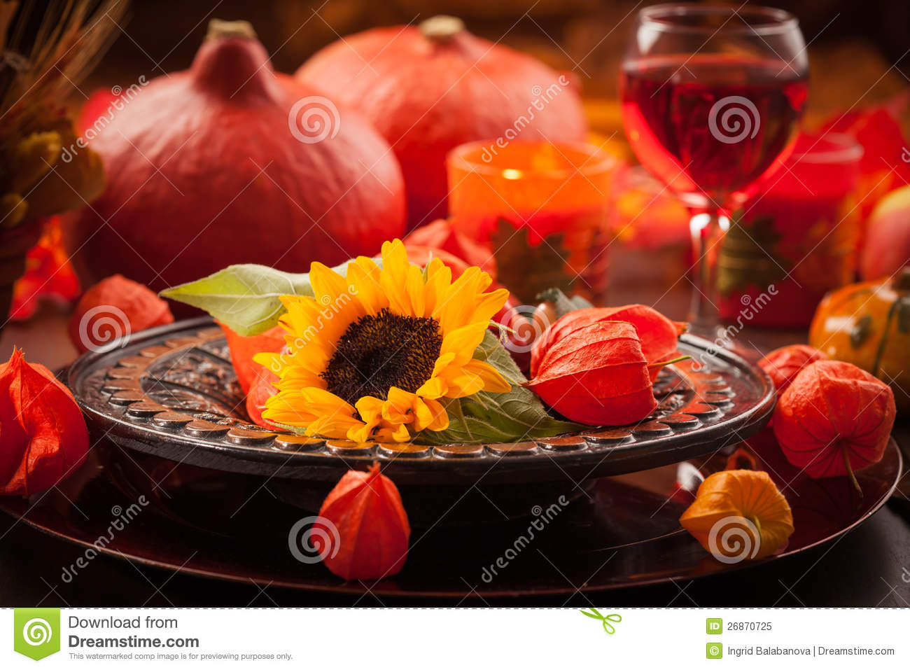 Autumn place setting royalty free stock photo image for Place setting images
