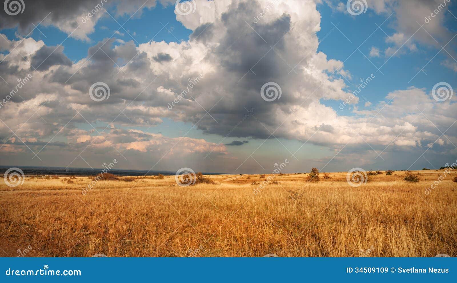 autumn prairie royalty free stock images