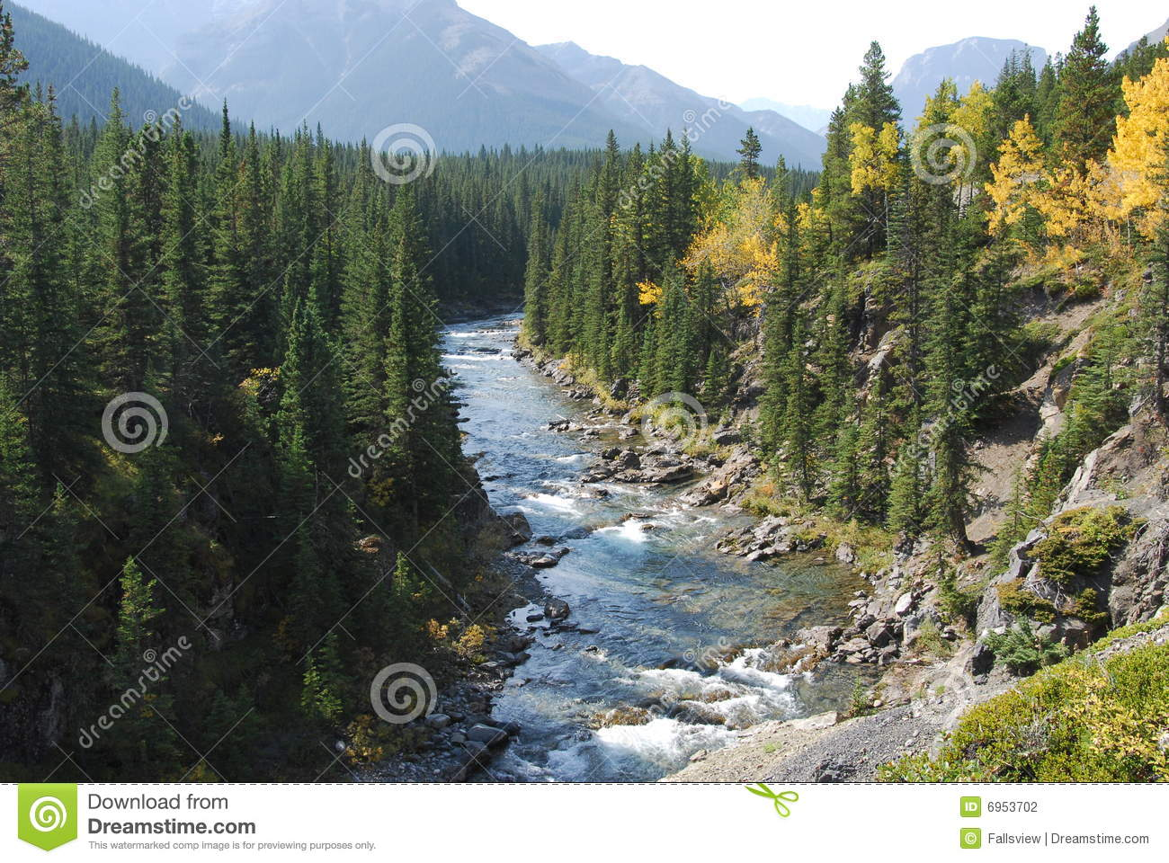 Autumn River Valley Stock Photography Image 6953702