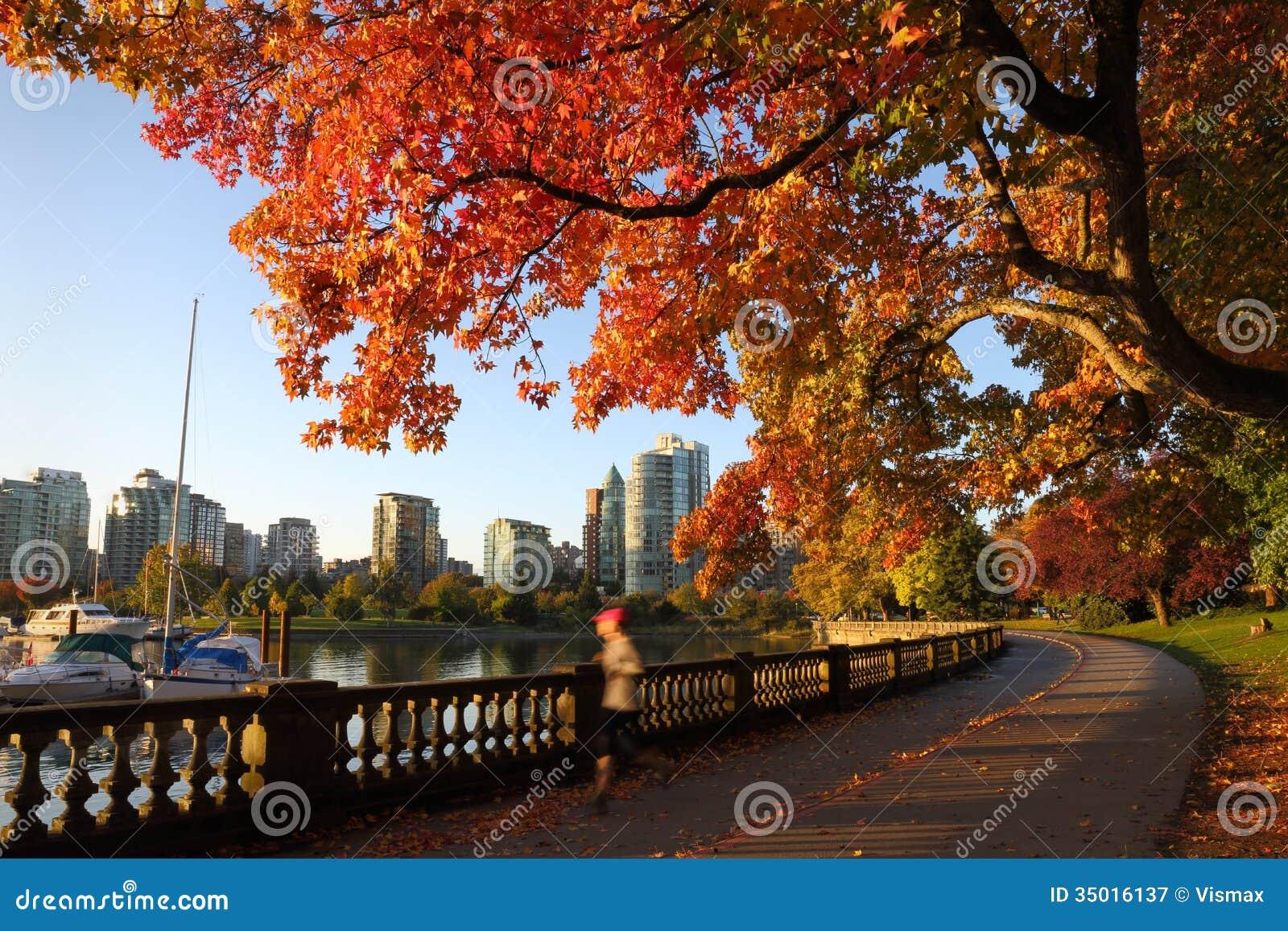 Autumn Run, Stanley Park Seawall, Vancôver