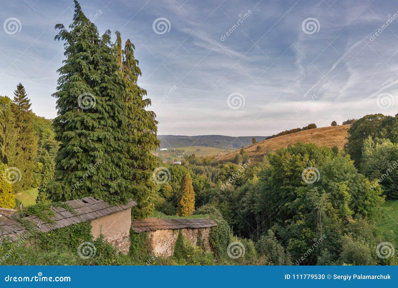 Autumn landscape close to Banska Stiavnica, Slovakia.