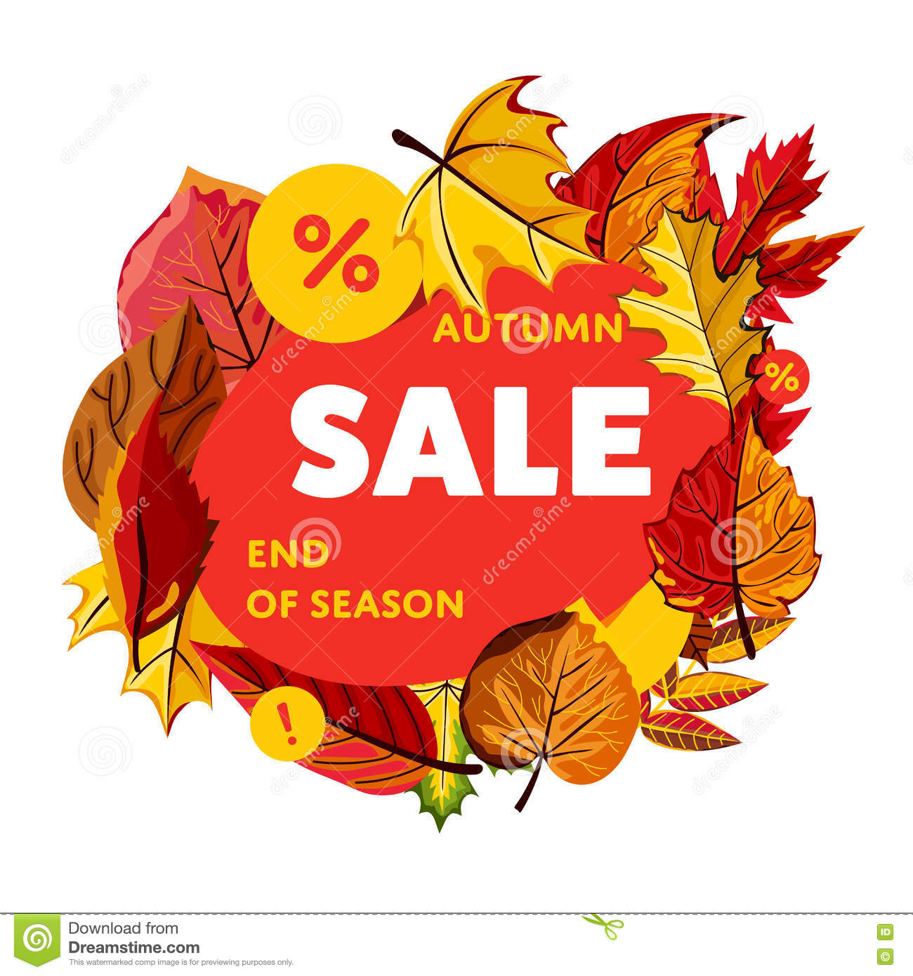 end of season design template royalty stock image autumn banner end of season royalty stock photo