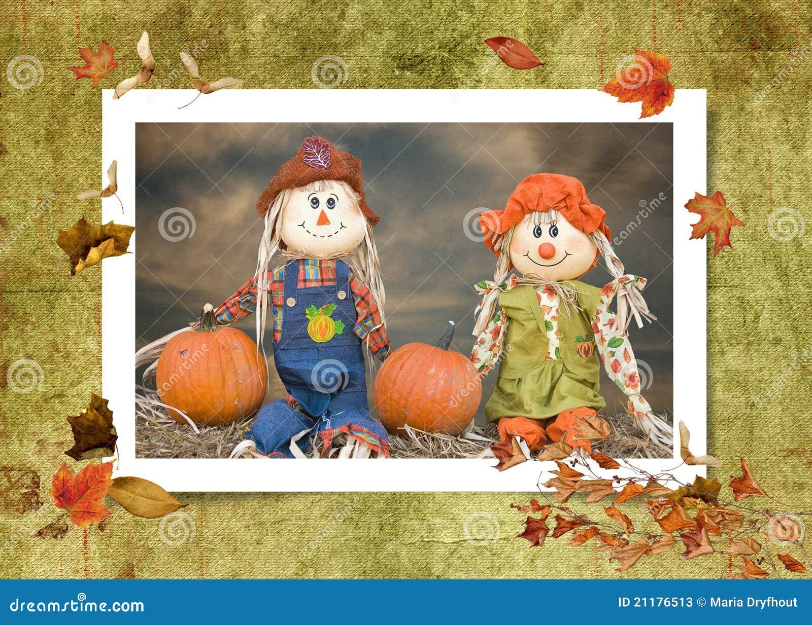 Autumn Scarecrow Couple