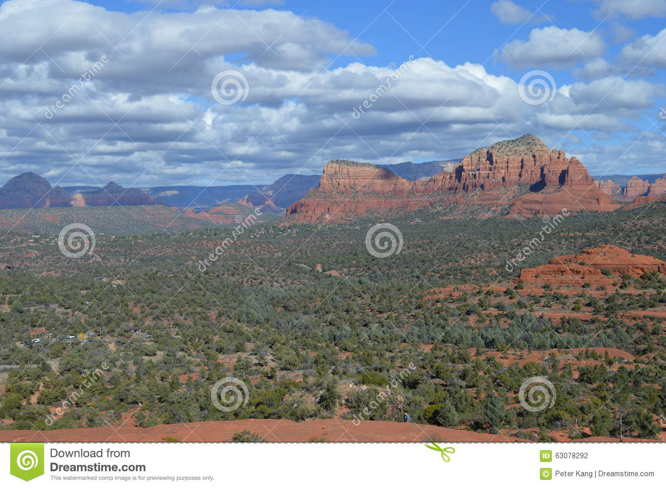 Download Autumn Sedona Moutain photo stock. Image du arizona, falaises - 63078292