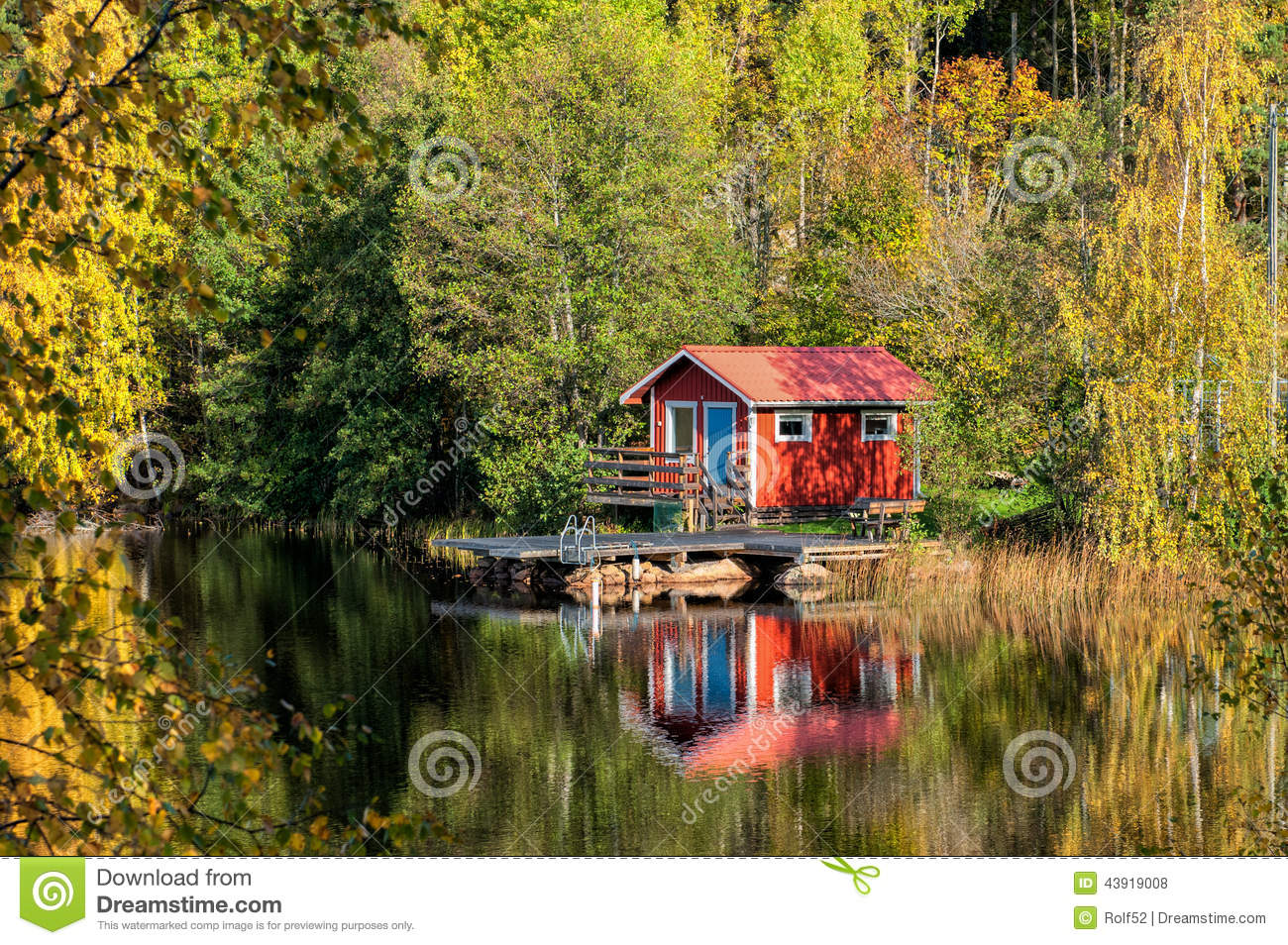 Autumn In Sweden Stock Photo Image 43919008