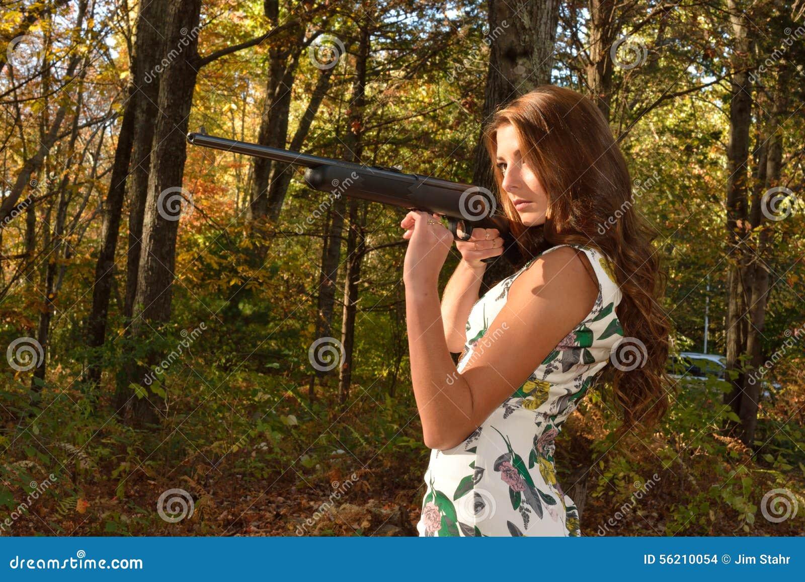 2e95c1baf3a5e Autumn target shoot. stock photo. Image of shooting, lady - 56210054