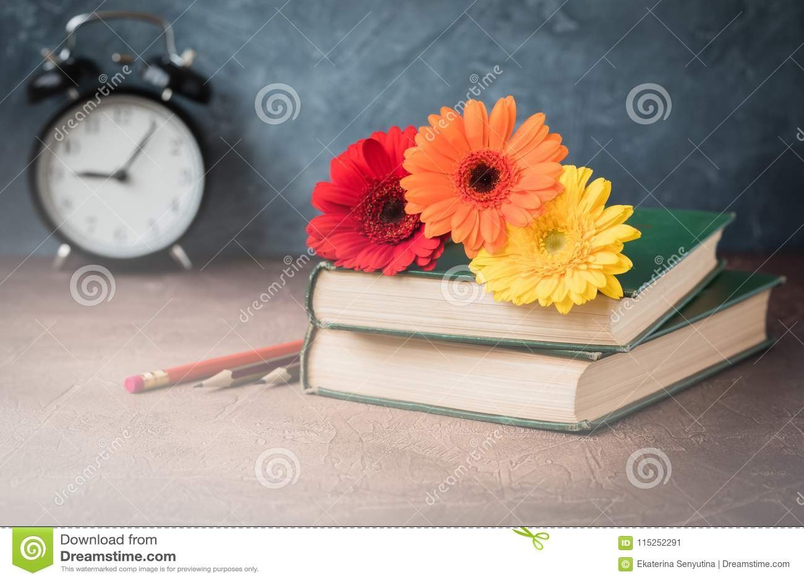 September 1 Concept Postcard Teachers Day Back To School Supplies