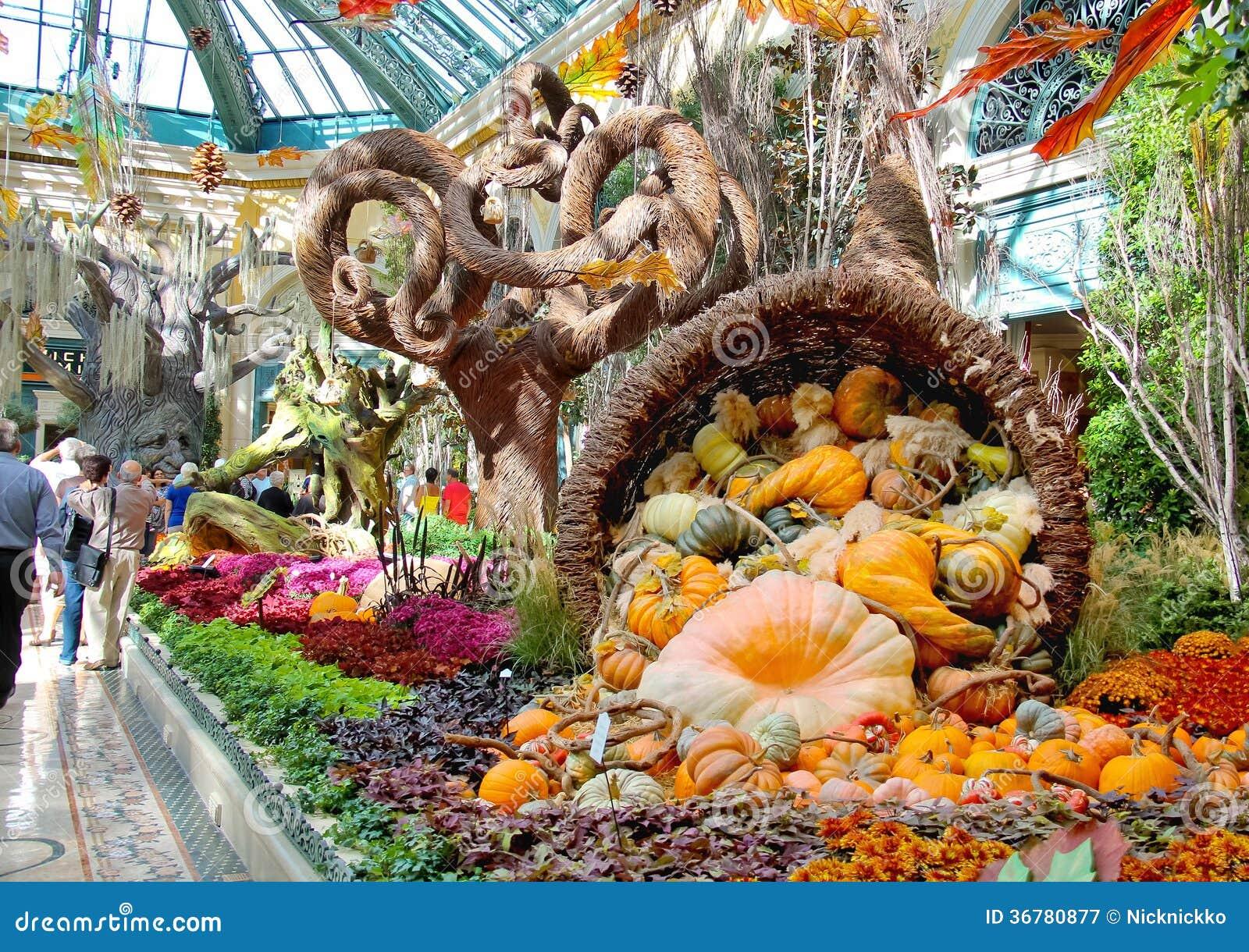 Autumn Theme In A Greenhouse At Bellagio Hotel In Las