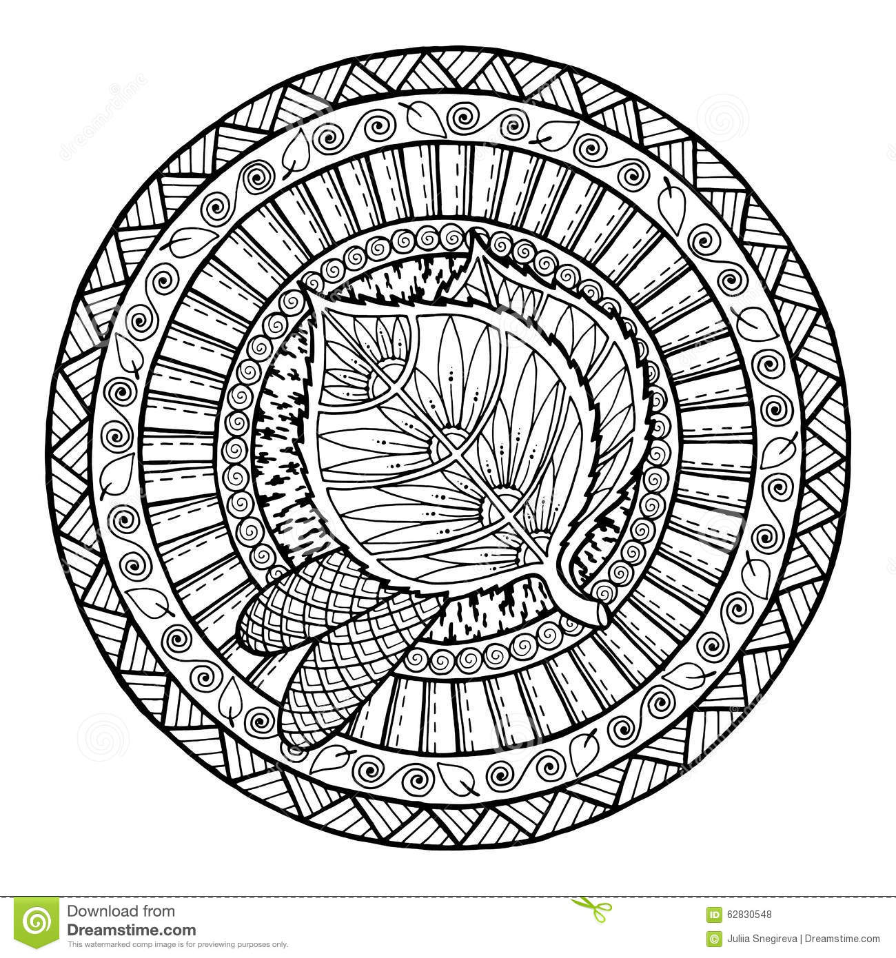 Background Zentangle Pattern For Coloring Book Adults And Kids